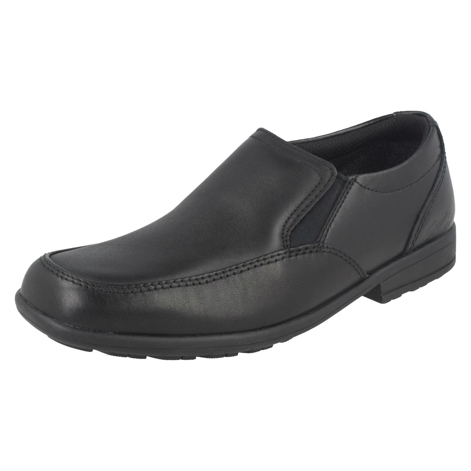 Chicos Clarks Zapatos Escuela Estilo Mocasín kooru paso