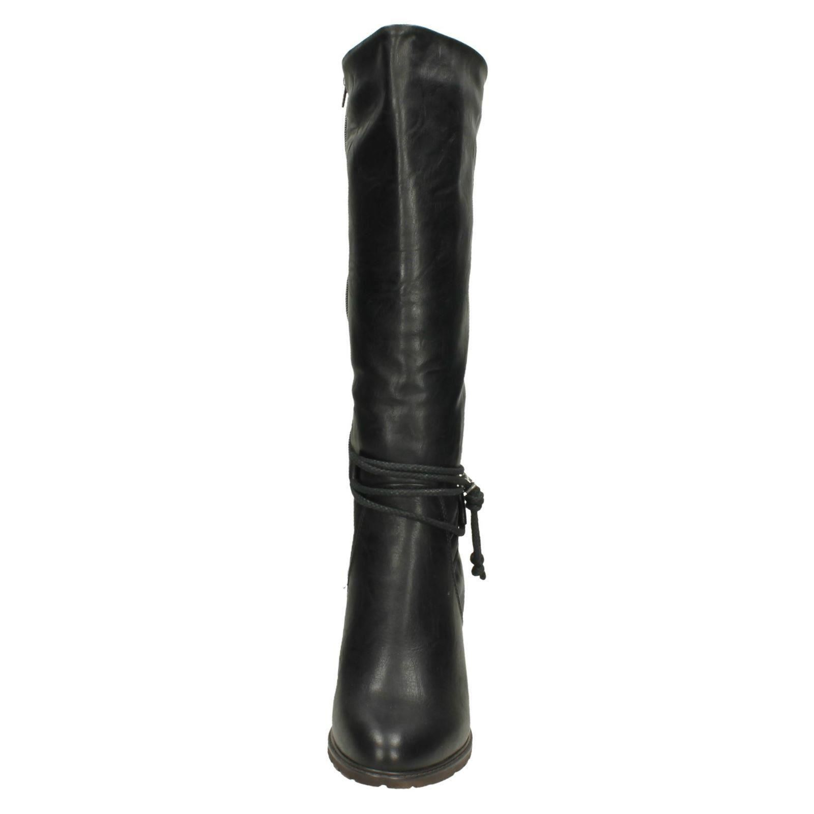 Knee Rieker Svart High 96059 Ladies Boots HOxqvPnP