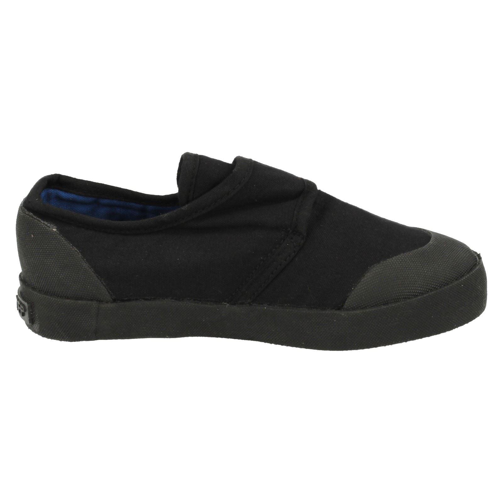 Unisex Childrens Black Plimsolls 322-7303