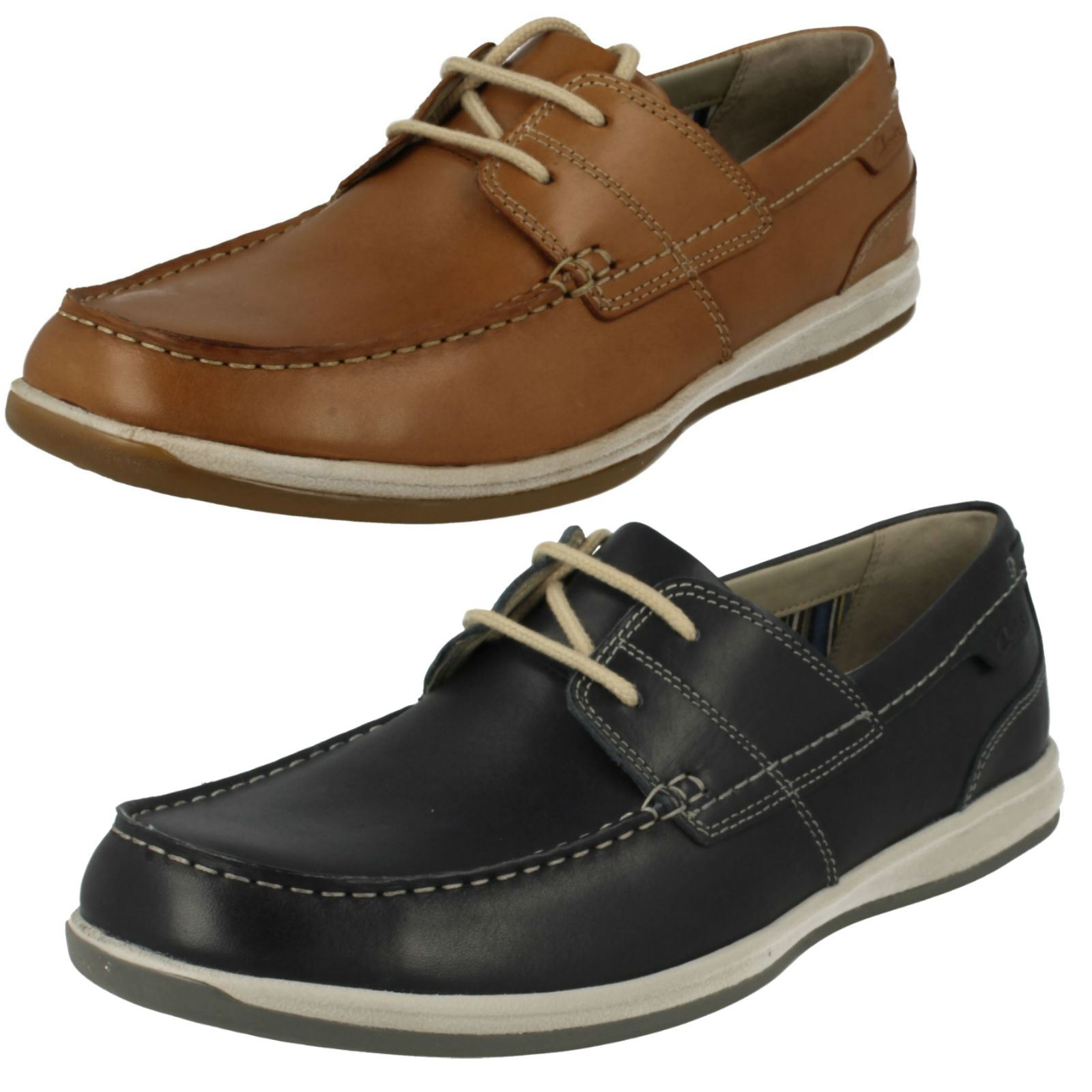 Mens Clarks Moccasin Style Lace Up shoes Fallston Style