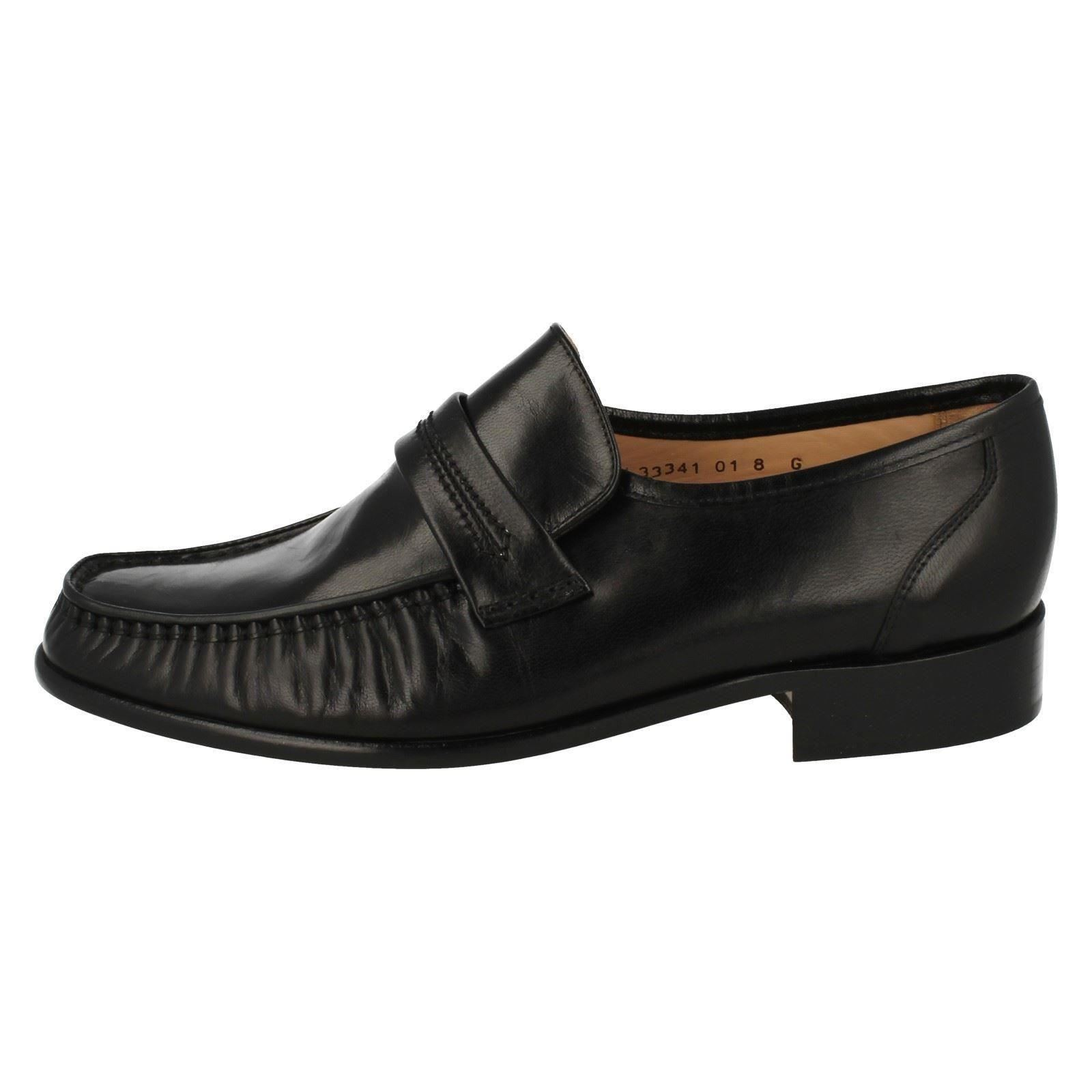 Mens Grenson Classic Moccasin Leather Slip On Shoes - Watford