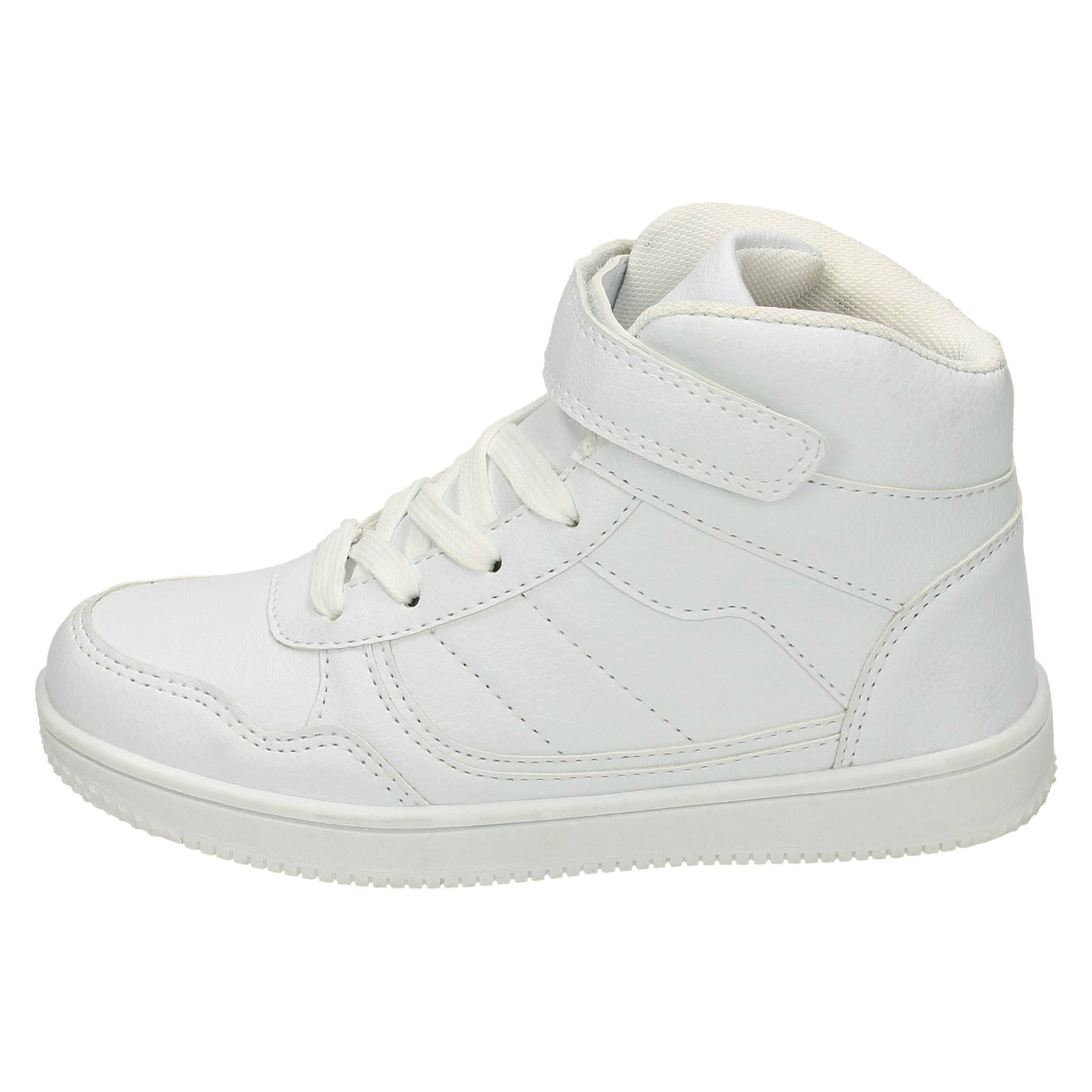 Schuhe Für Jungen Childs Spot On Black Or White Hi-top Trainers Style H4127