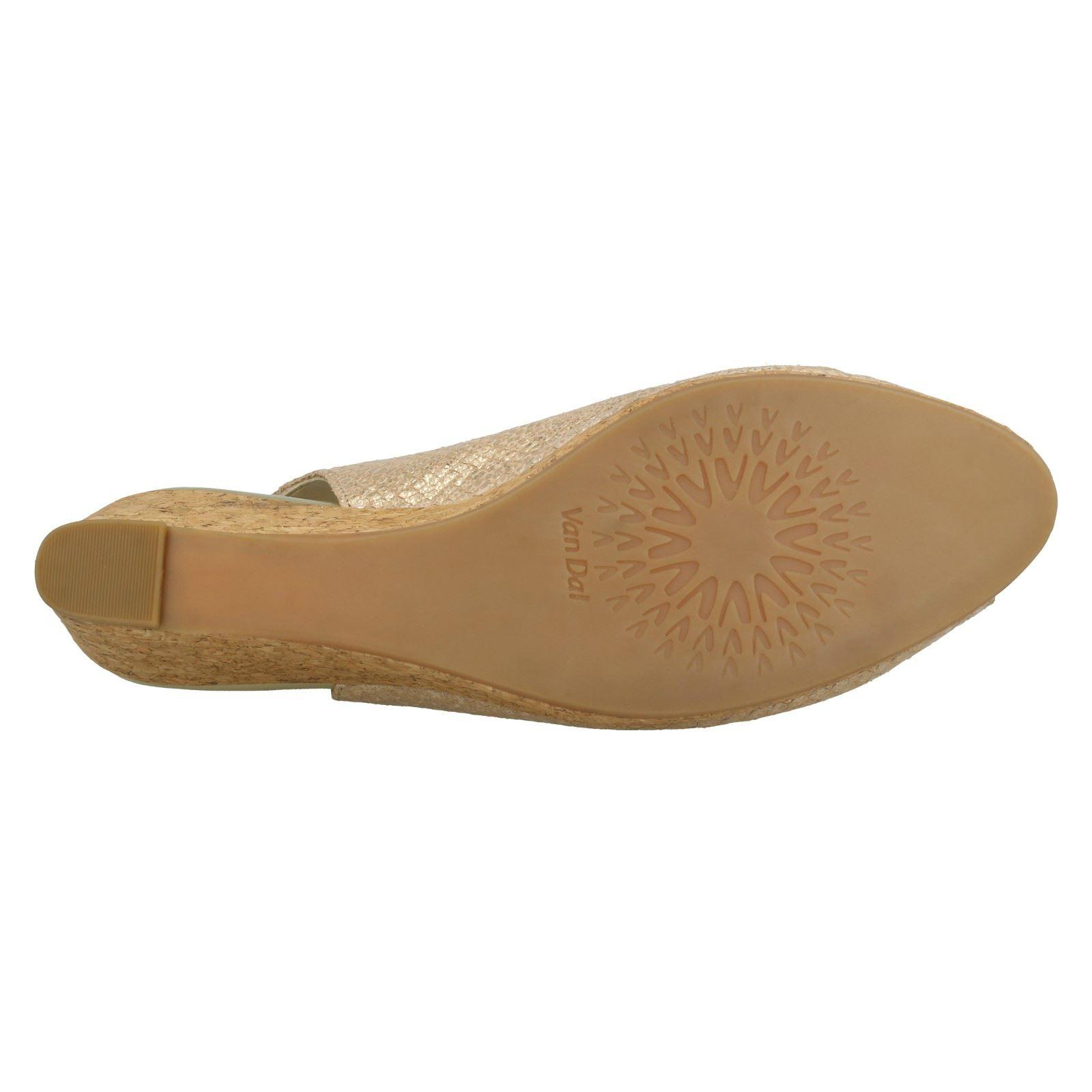 Ladies-Van-Dal-Cork-Wedge-Sandals-Gable thumbnail 10