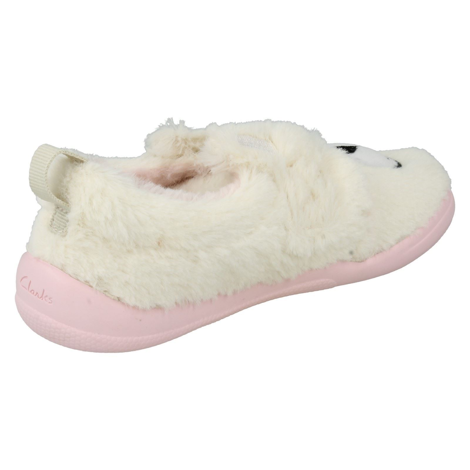 Shoes Clarks Girls Seasonal Cuba Bear Inf Textile Slippers In Pink Combi Slippers