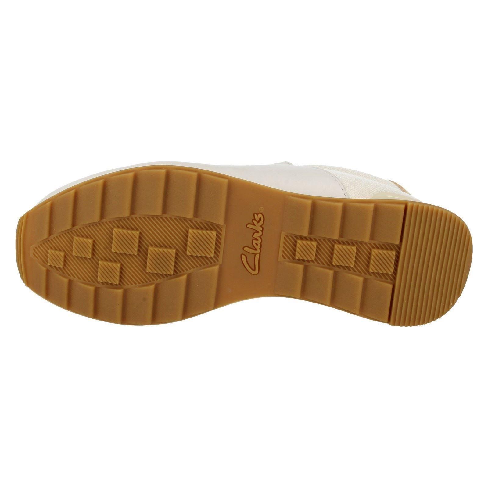 Damen Clarks Freizeit Geschnürte Turnschuhe Stil Stil Turnschuhe Schuhe Floura Mix 1dc9ef