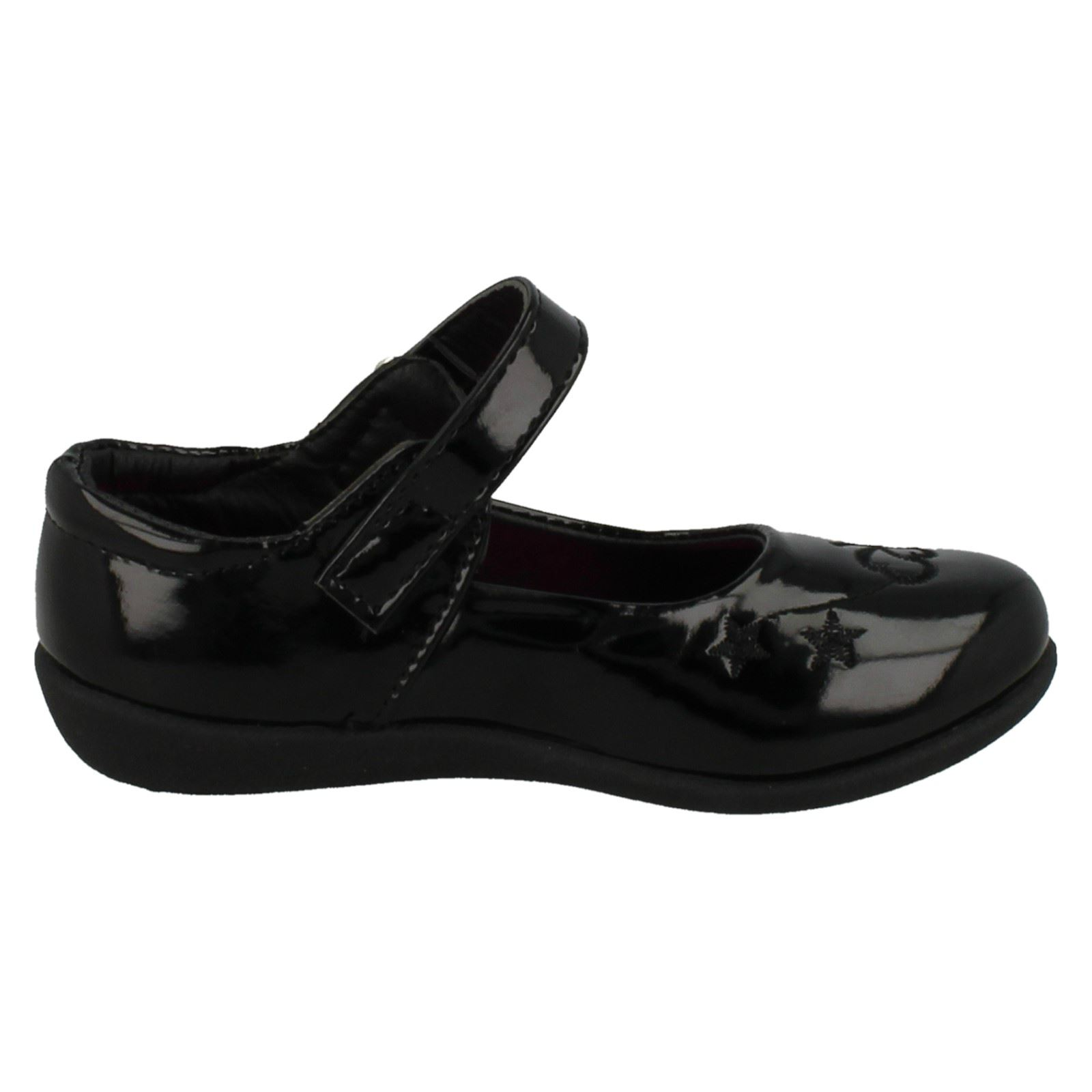 Girls Spot On Flat School Shoes H2378
