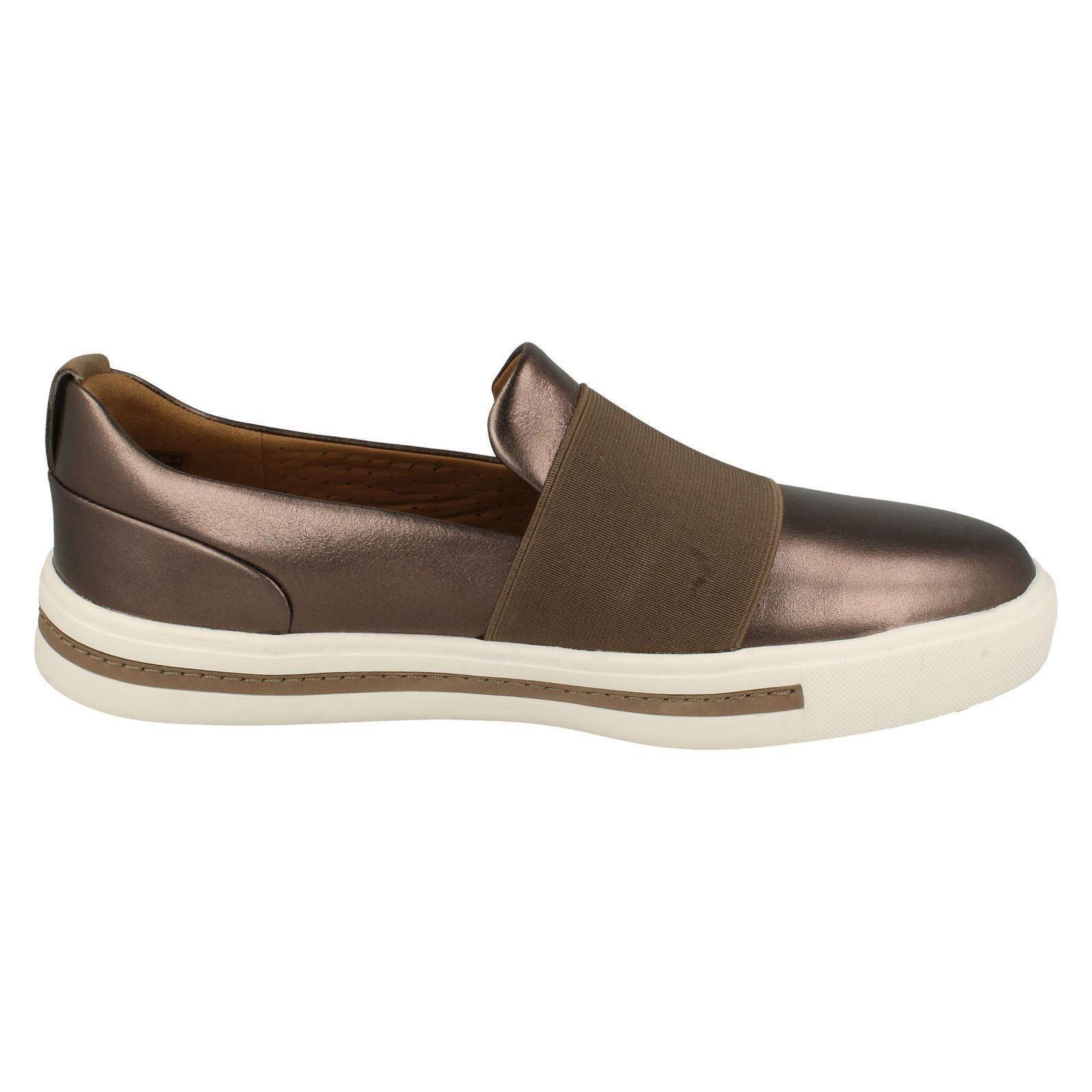 Metallic oro Unstructured Clarks Shoes Slip Maui Un Pebble Step Ladies On Uzw65qxvv