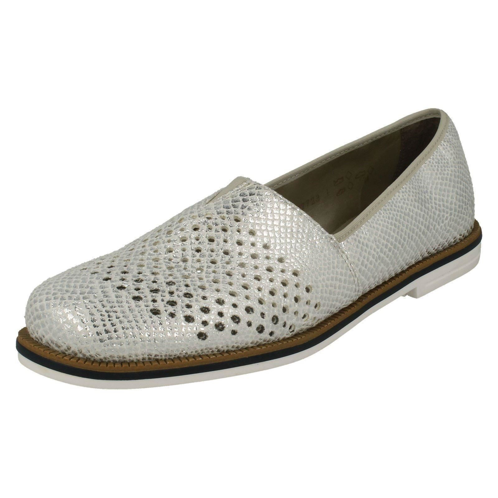 Zapatos por casuales salvajes Descuento por Zapatos tiempo limitado Rieker Ladies Slip On Casual Loafers - 45555 86e54c