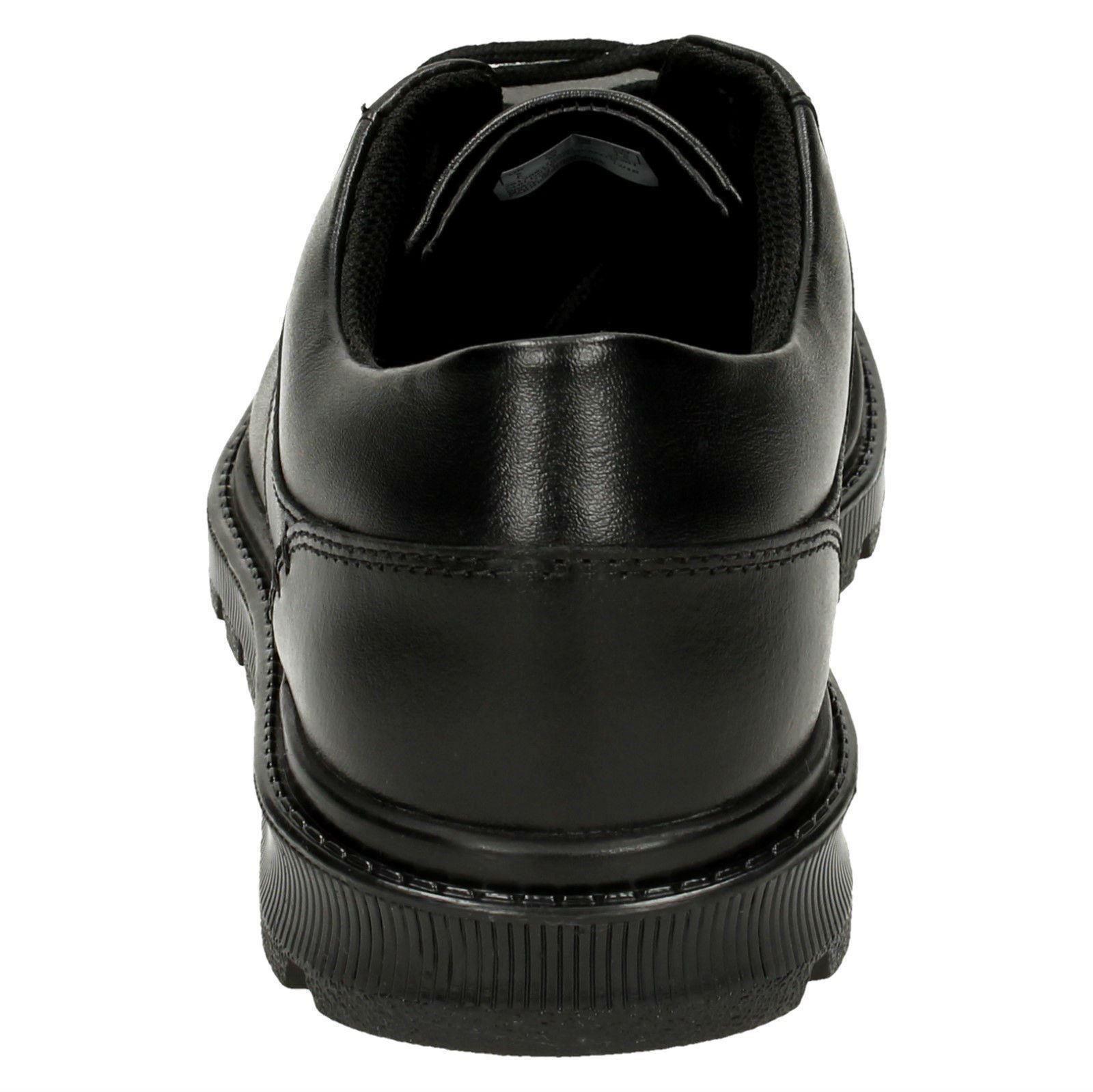 cuero informal Chicos de Bootleg Trek cordones punta Clarks Mayes con de negro la redonda zapatos escuela wqIq8r