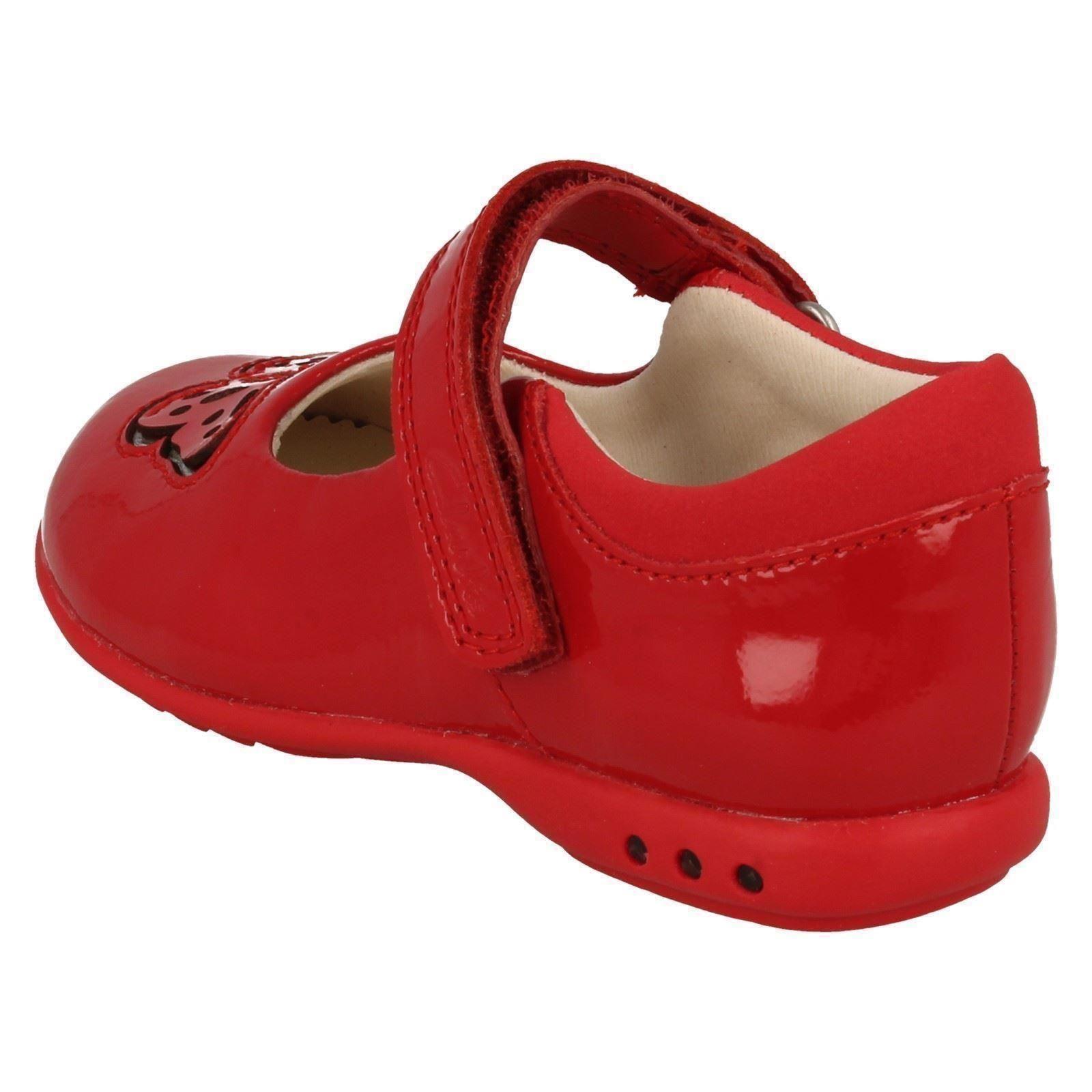 Chicas Clarks Inteligente Hook & Loop Zapatos con luces Trixi deseo