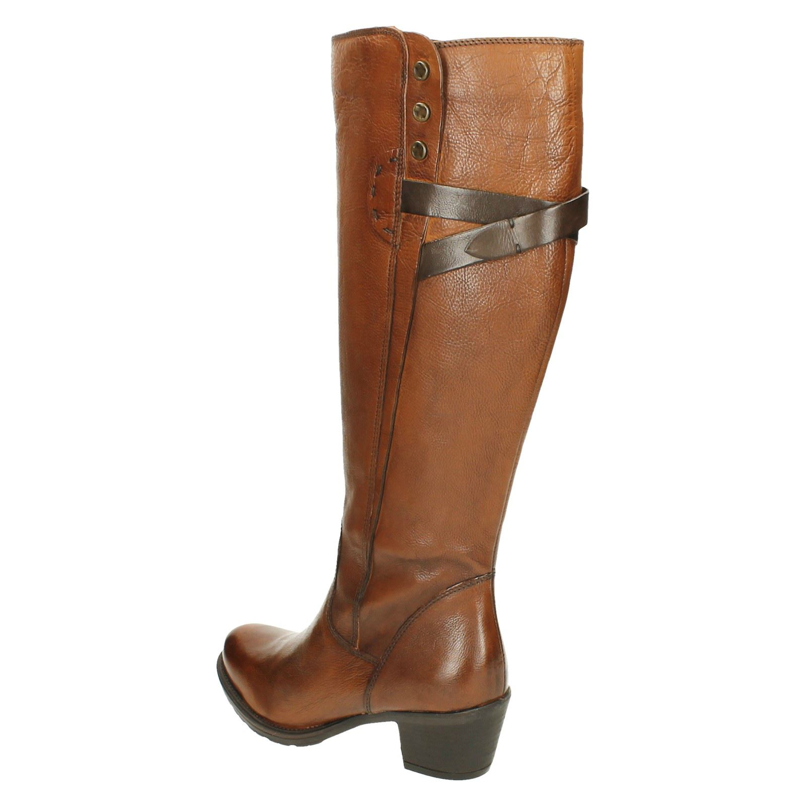 Boots Stellar Maymie Style Clarks Riding Ladies Cognac brown Xzpqap