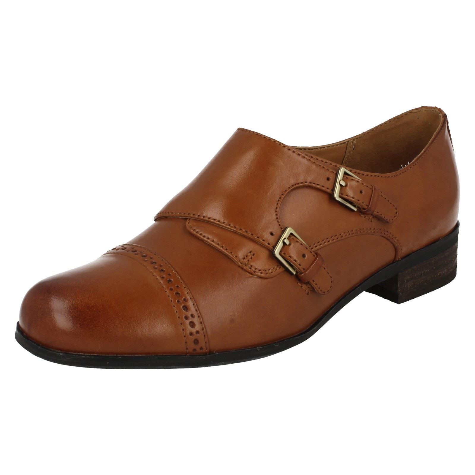Hamble Tan Zapatos Park para Dark con marrón mujer Clarks hebillas w8AFcq8Xr