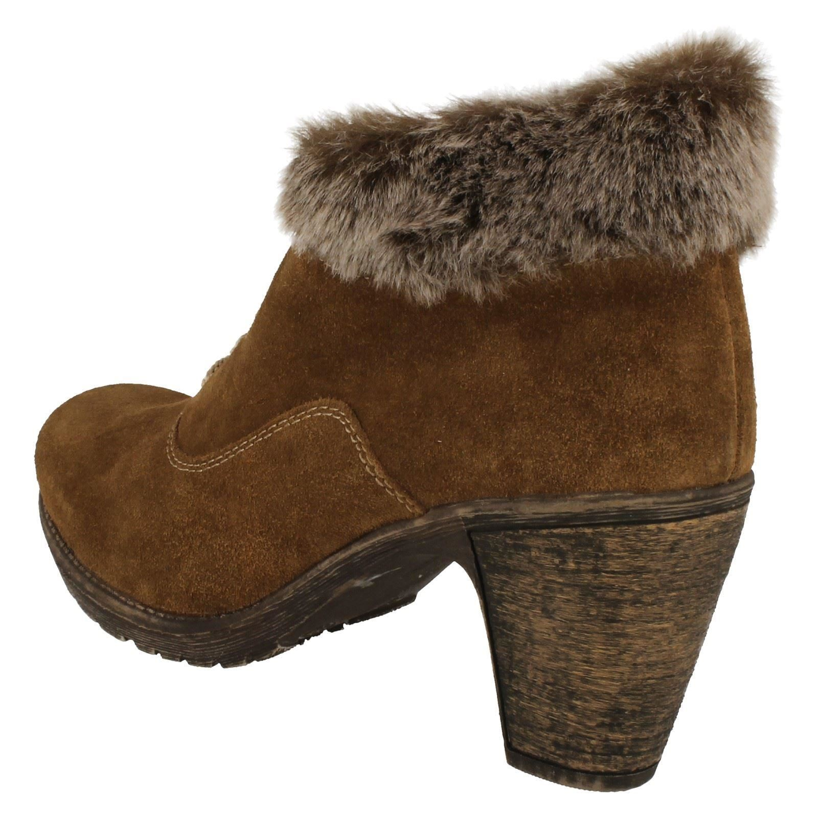 Boots Brown Ankle 72020 Fur Topped Ladies Rieker w6qCS6f