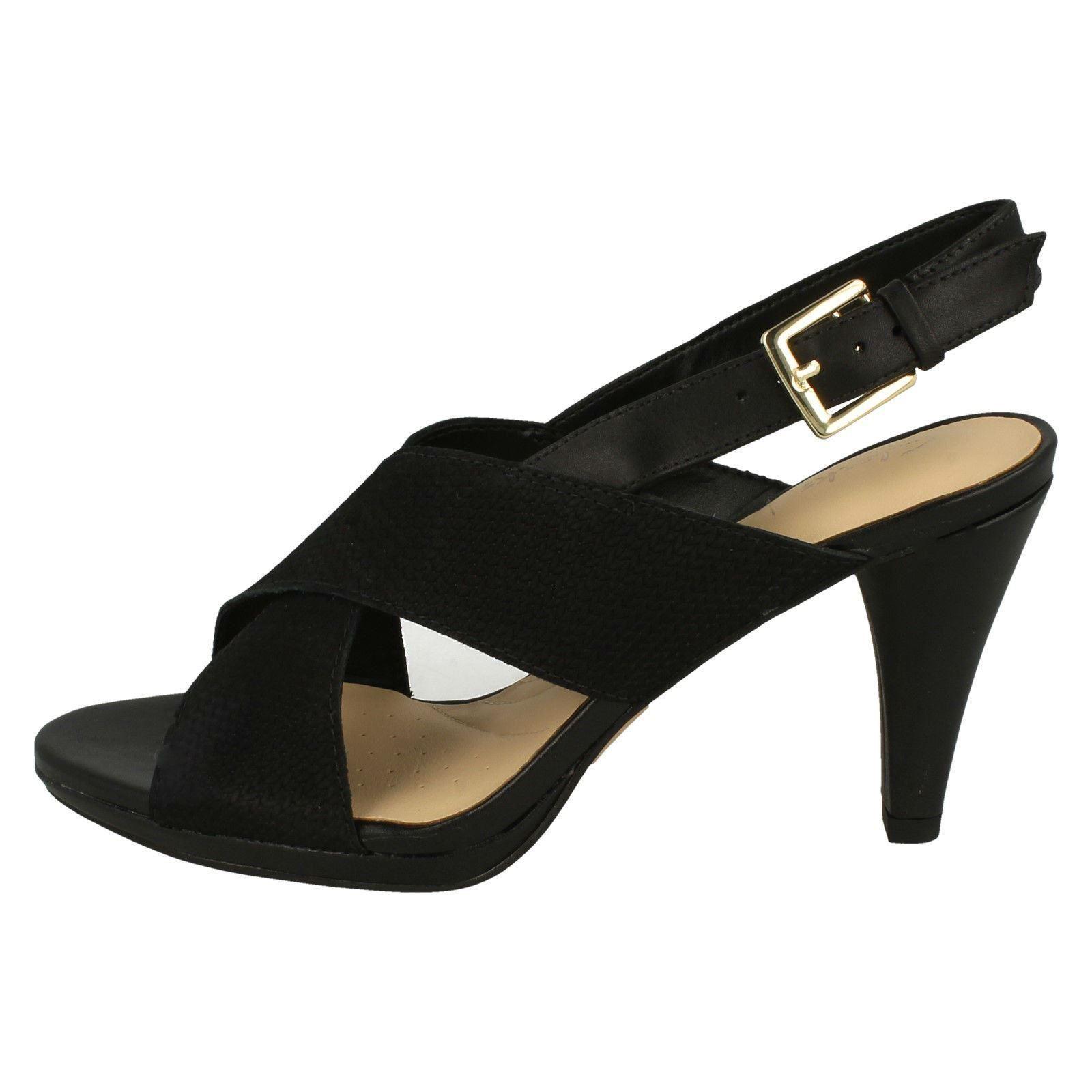 damen Clarks Heeled Slingback Sandals - - - Dalia Lotus 4aa26a