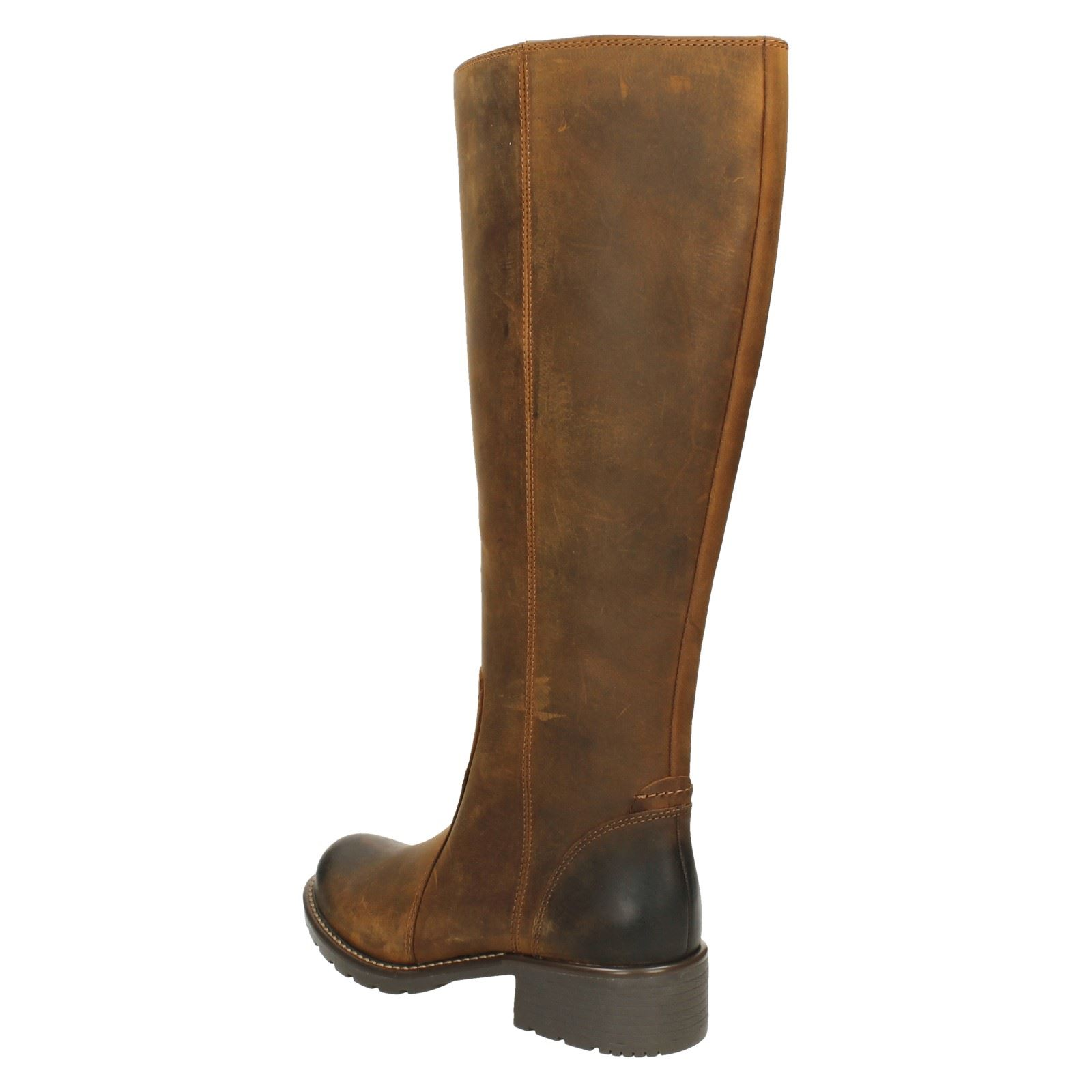 """NEW Clarks Ladies /""""Orinoco Eave/"""" Black Leather Knee High Long Boots UK 3-3.5 D"""