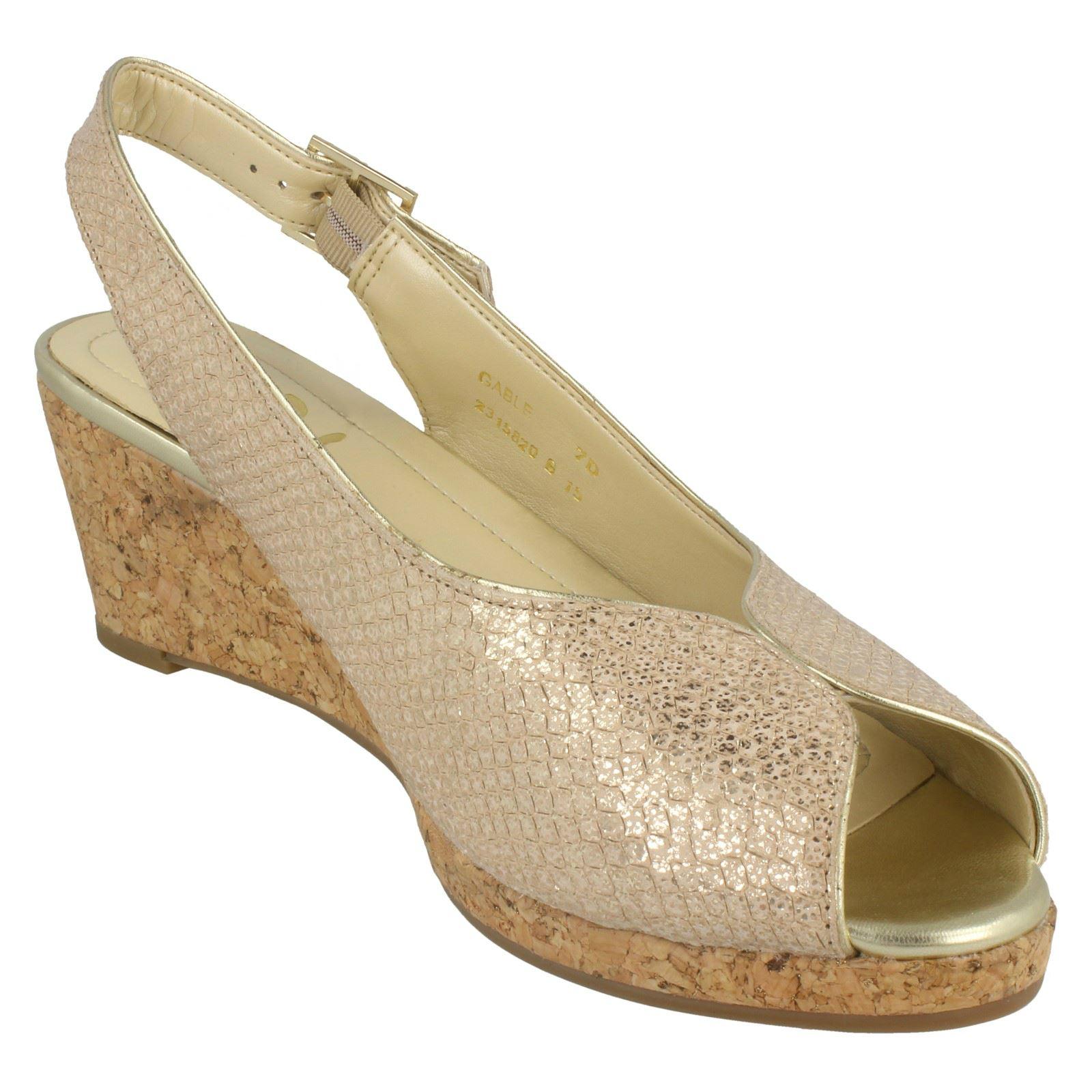 Ladies-Van-Dal-Cork-Wedge-Sandals-Gable thumbnail 7