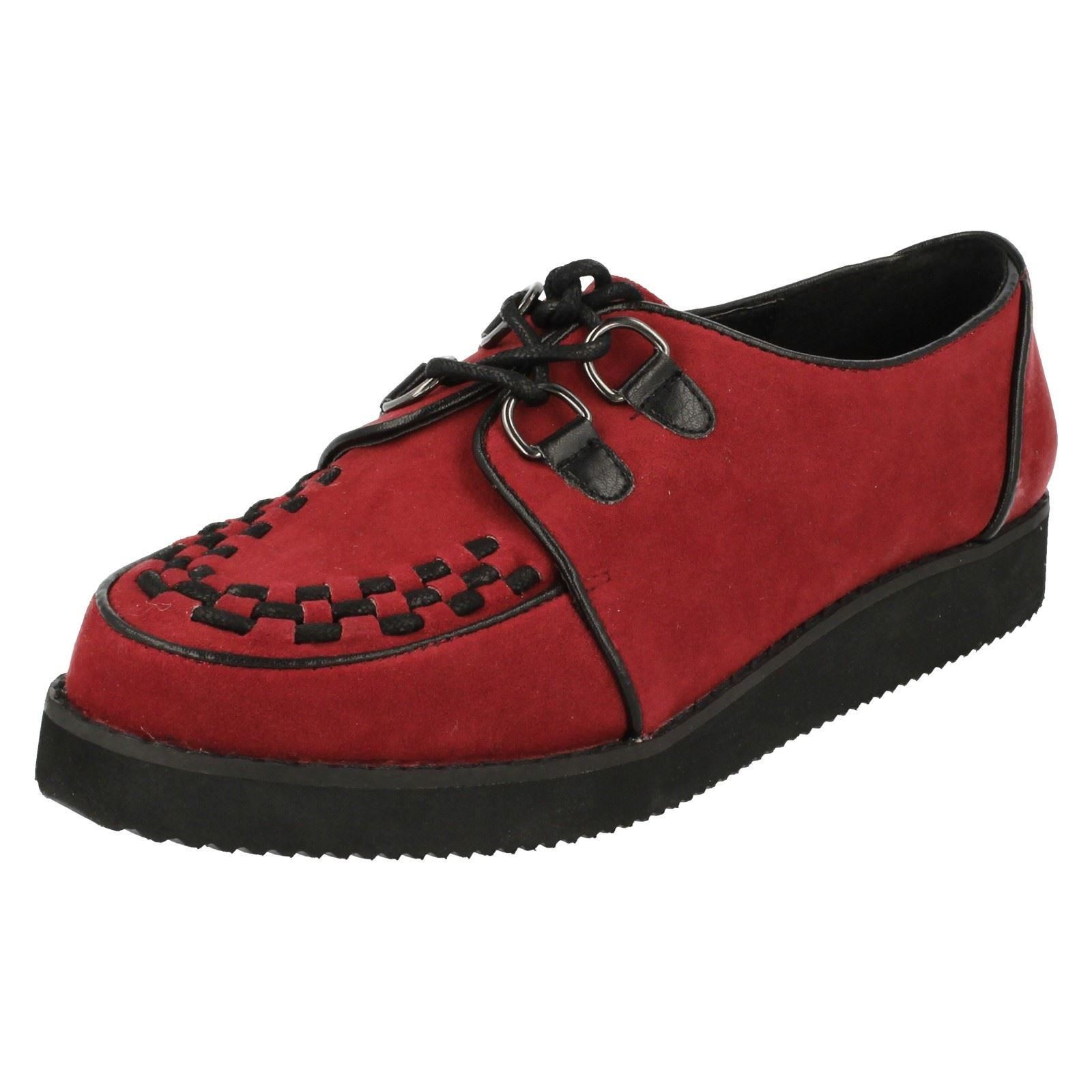1392f80d275 Ladies Spot on Chunky Sole Shoes F9568 Red UK 4 Standard. About this  product. Picture 1 of 10  Picture 2 of 10 ...