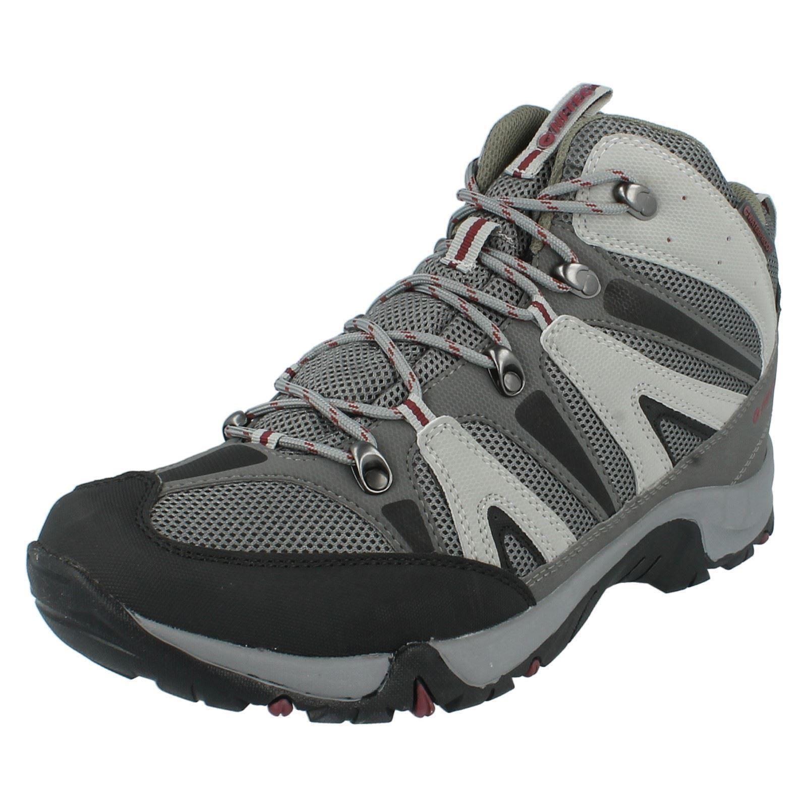 nero scarpe Condor in sintetico arrotondata Wp punta rosso passeggio grigio Hi nabuk stringate tec casual Mens nero da nqz678Yz