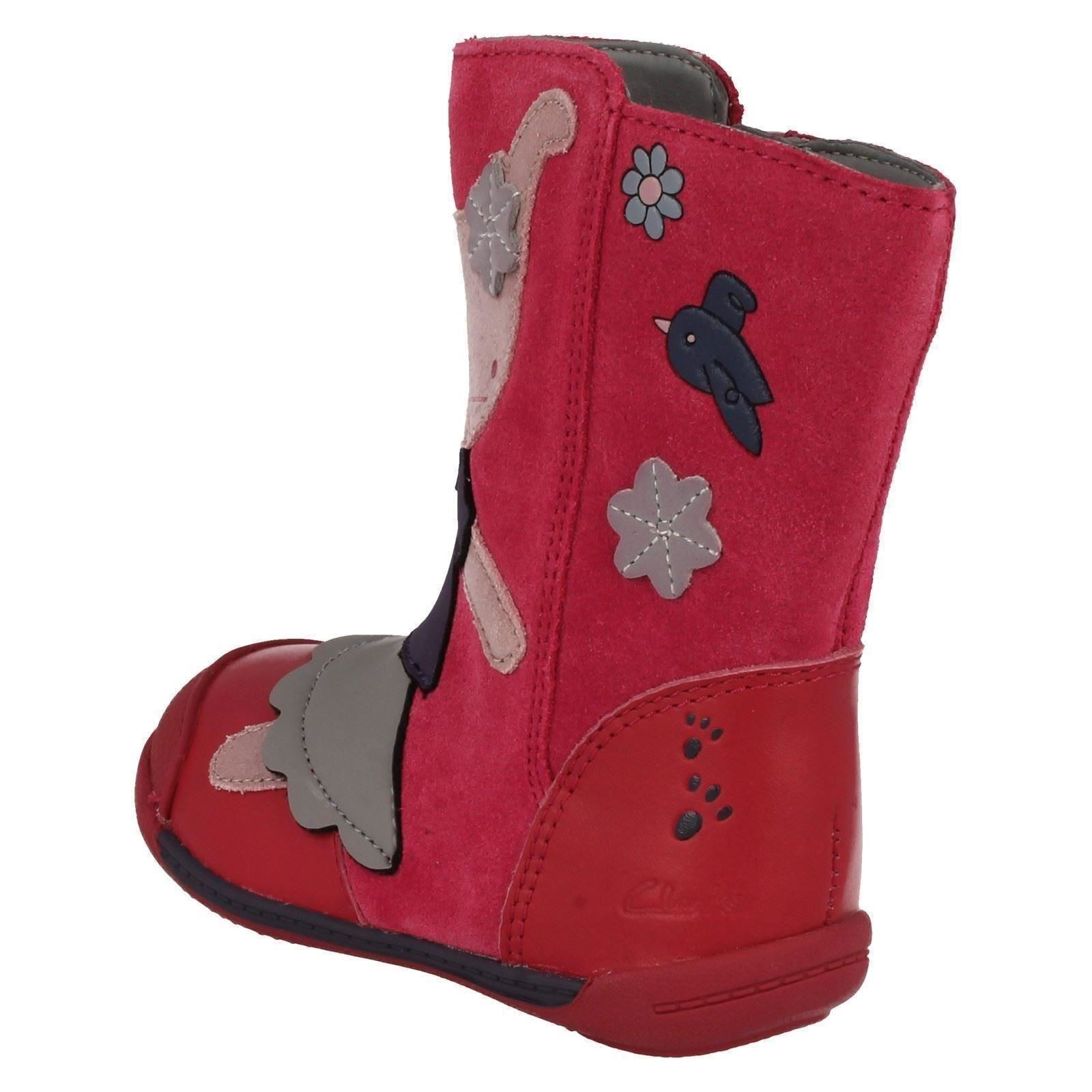 Girls Clarks Boots with Rabbit Design /'Iva Friend/'
