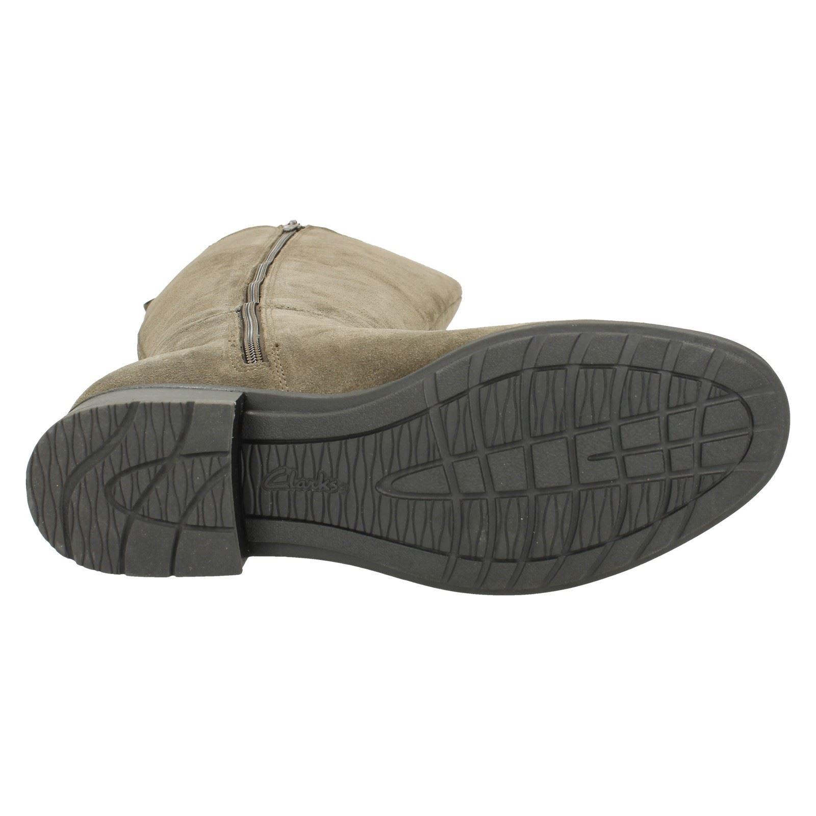 Damas Damas Damas Clarks Inteligente Cremallera botas Largas verlie Gail 36f56b