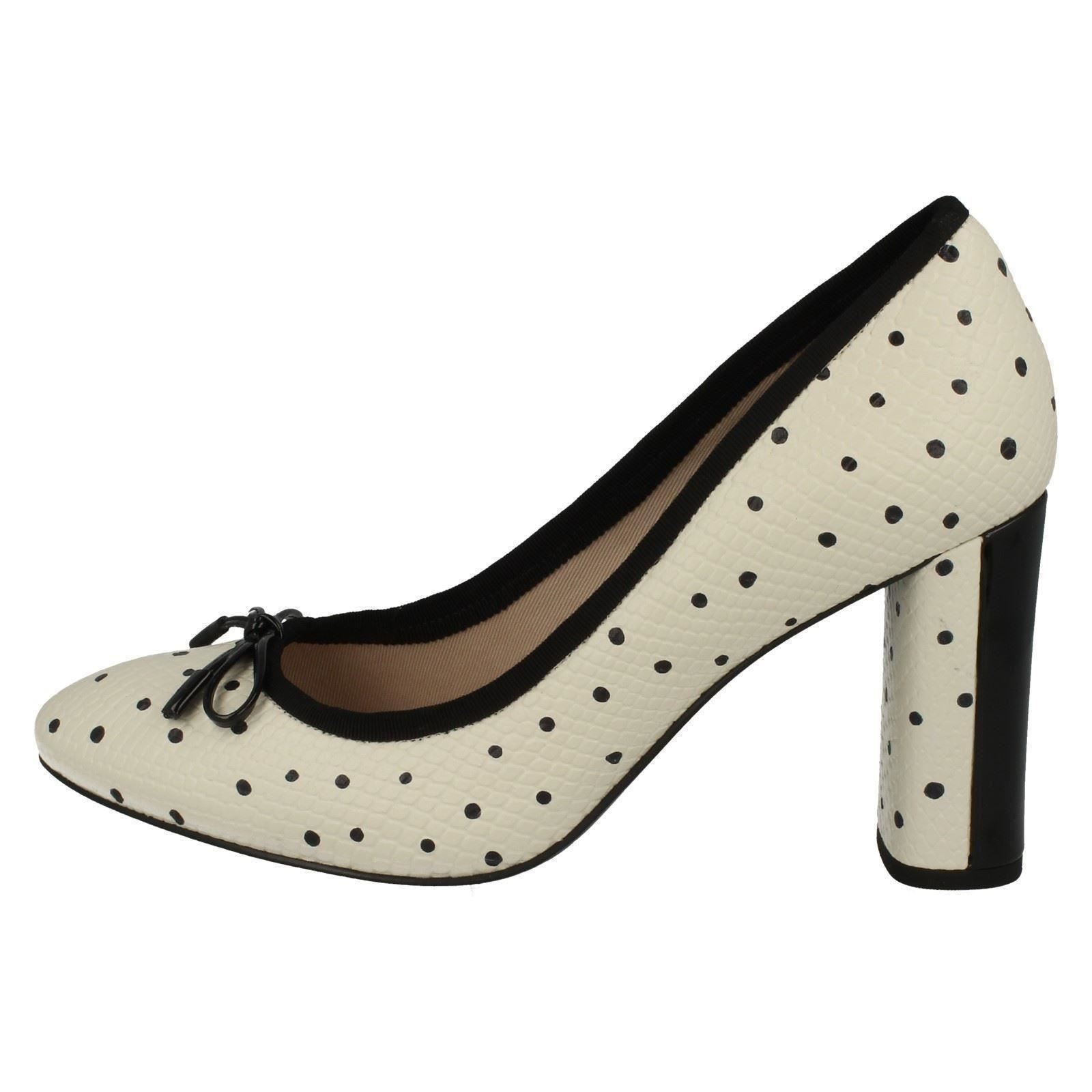 mujer blanco blanco alto Faye para tacón Clarks Idamarie Calzado negro de wgSR66