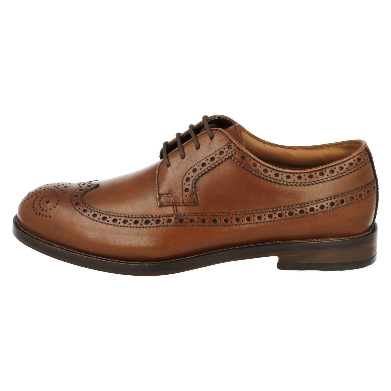 cb7fc8541c Mens Clarks Formal Brogue Style Lace up Shoes Coling Limit UK 9 Tan ...