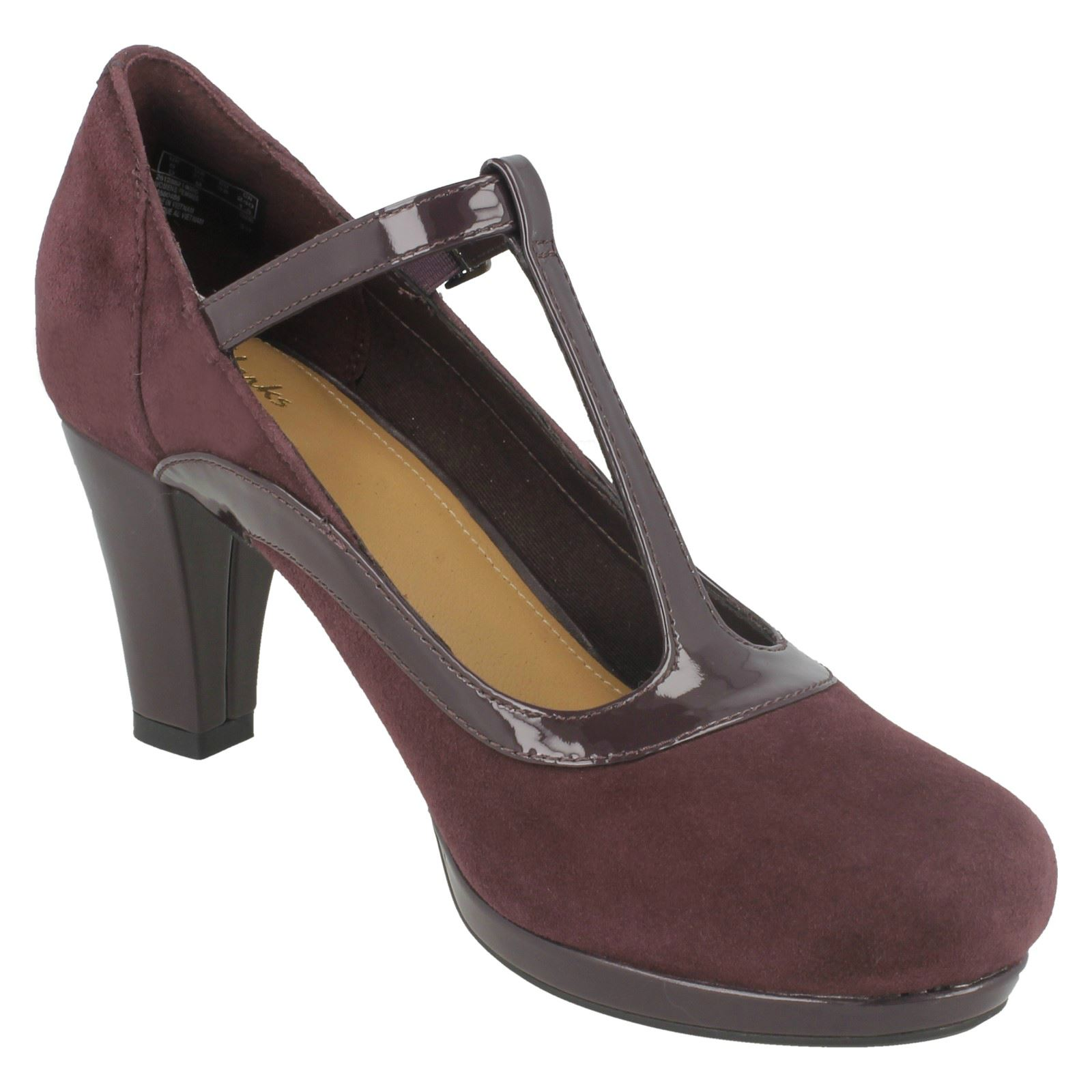 a08126a80eaaa Ladies-Clarks-Chorus-Pitch-Court-Heel-Shoes thumbnail 8