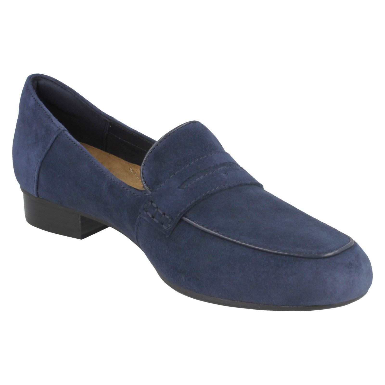 Smart Leather Wide Fitting Flat Shoes Ladies