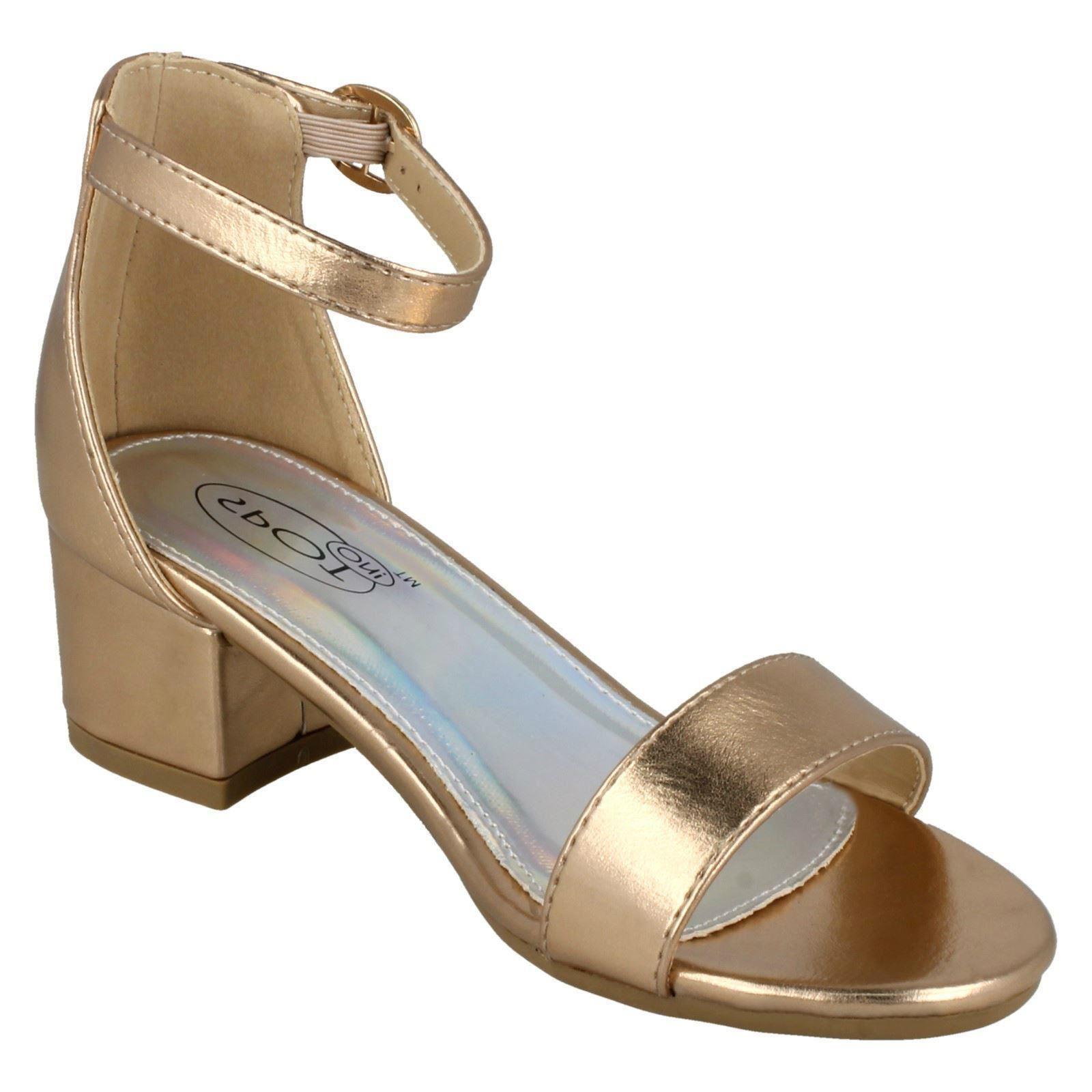 Spot On Girls Block Heel Sandals