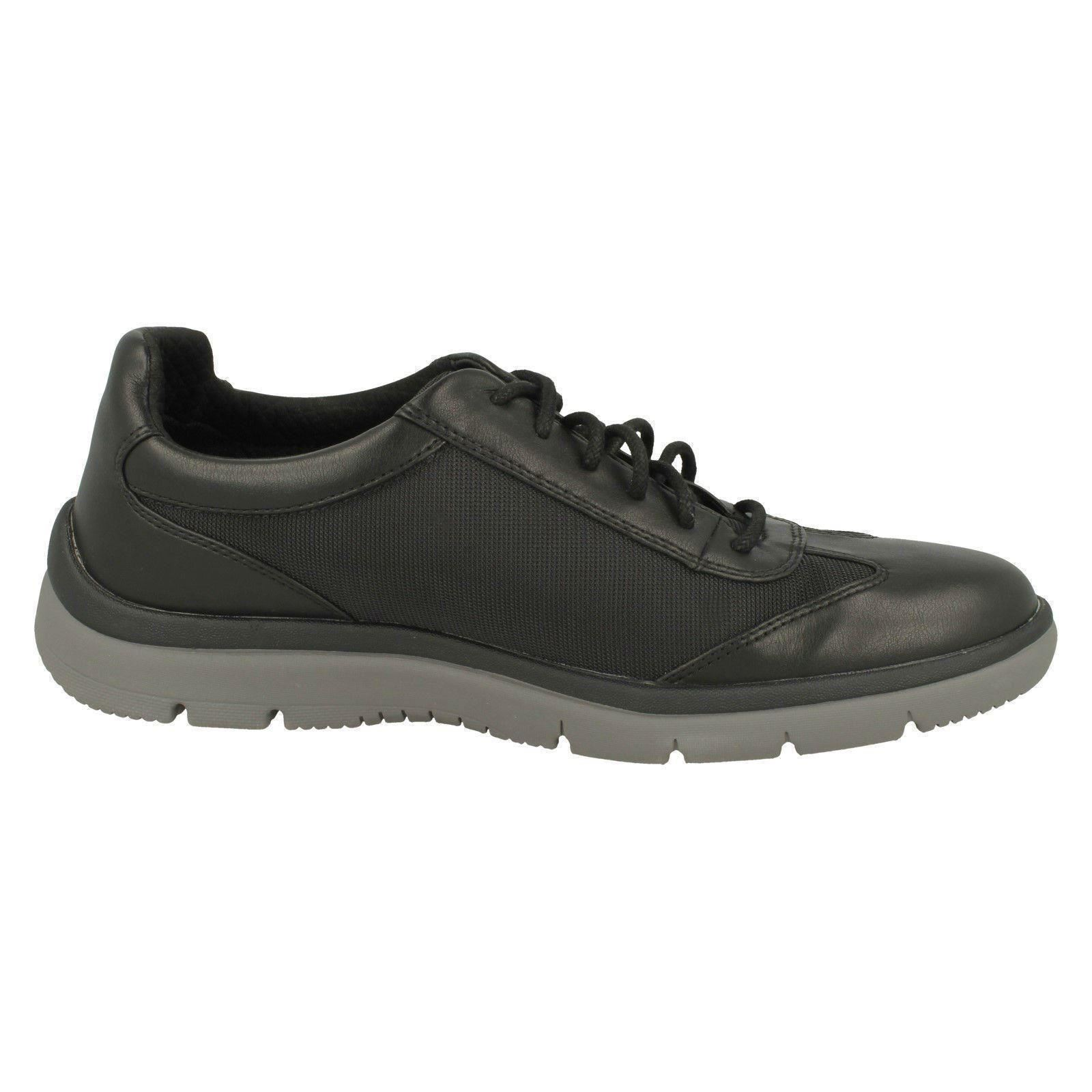 Clarks Mens Casual Lace Tunsil Up Trainers - Tunsil Lace Ridge db2764