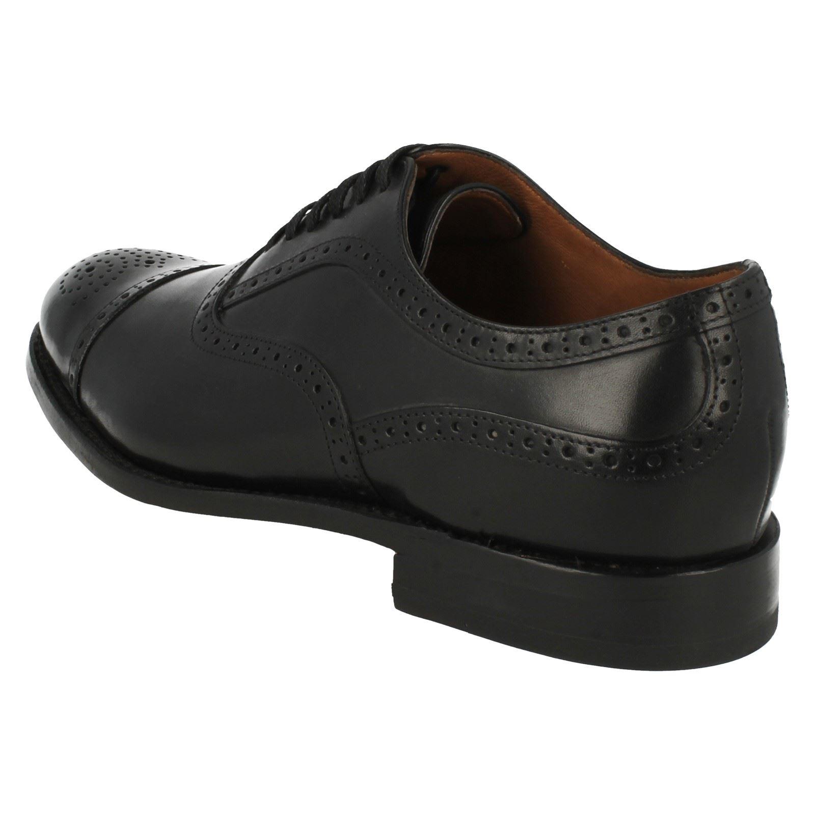Mens Clarks Formal Schuhes schwarzcheck Cap
