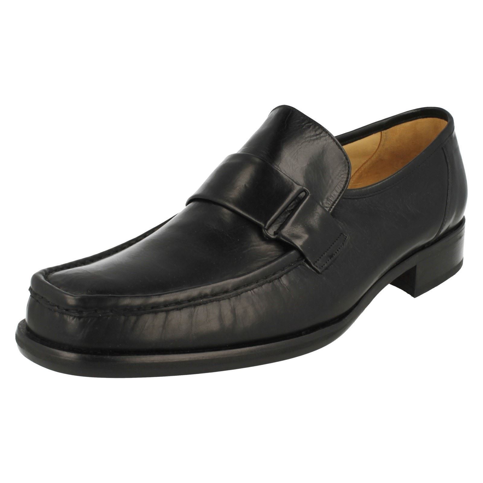 Mens Grenson Moccasin Leather Slip On Shoes - Dirk