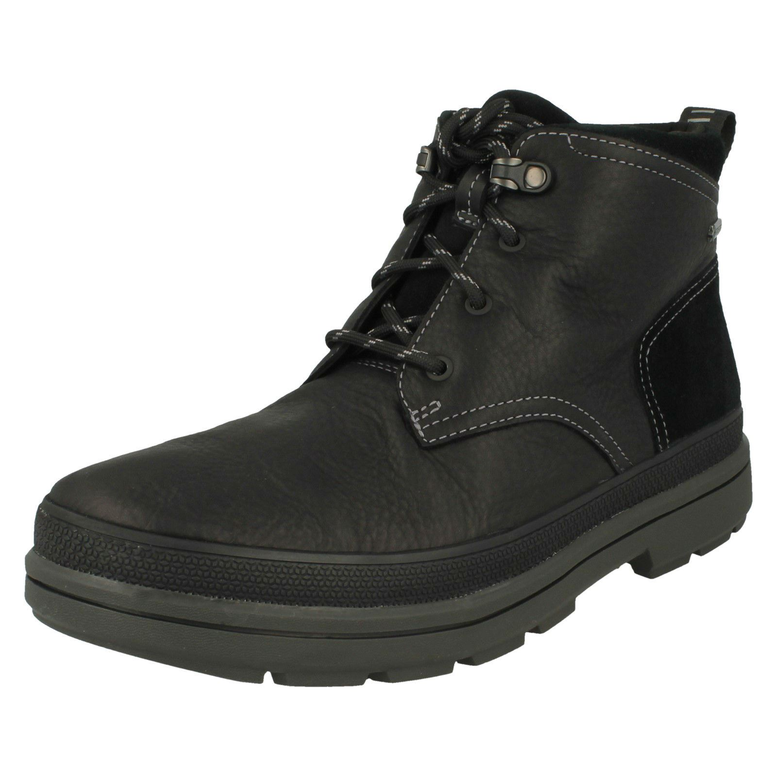 Uomo Clarks Gore-Tex Casual Lace Up Stiefel Rushway Mid