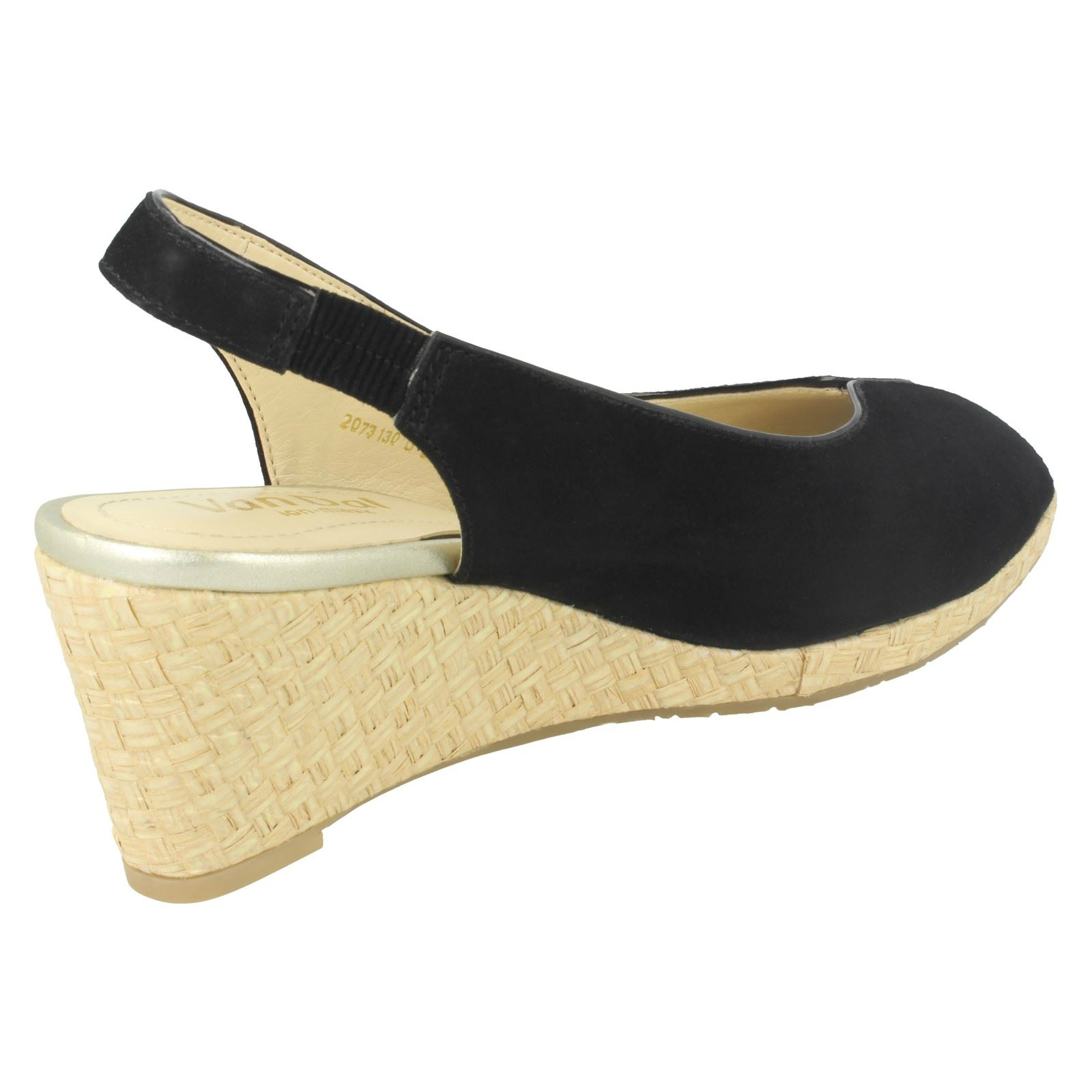 Ladies-Van-Dal-Leather-Wedge-Sandal-With-Woven-Detail-Avalon thumbnail 10