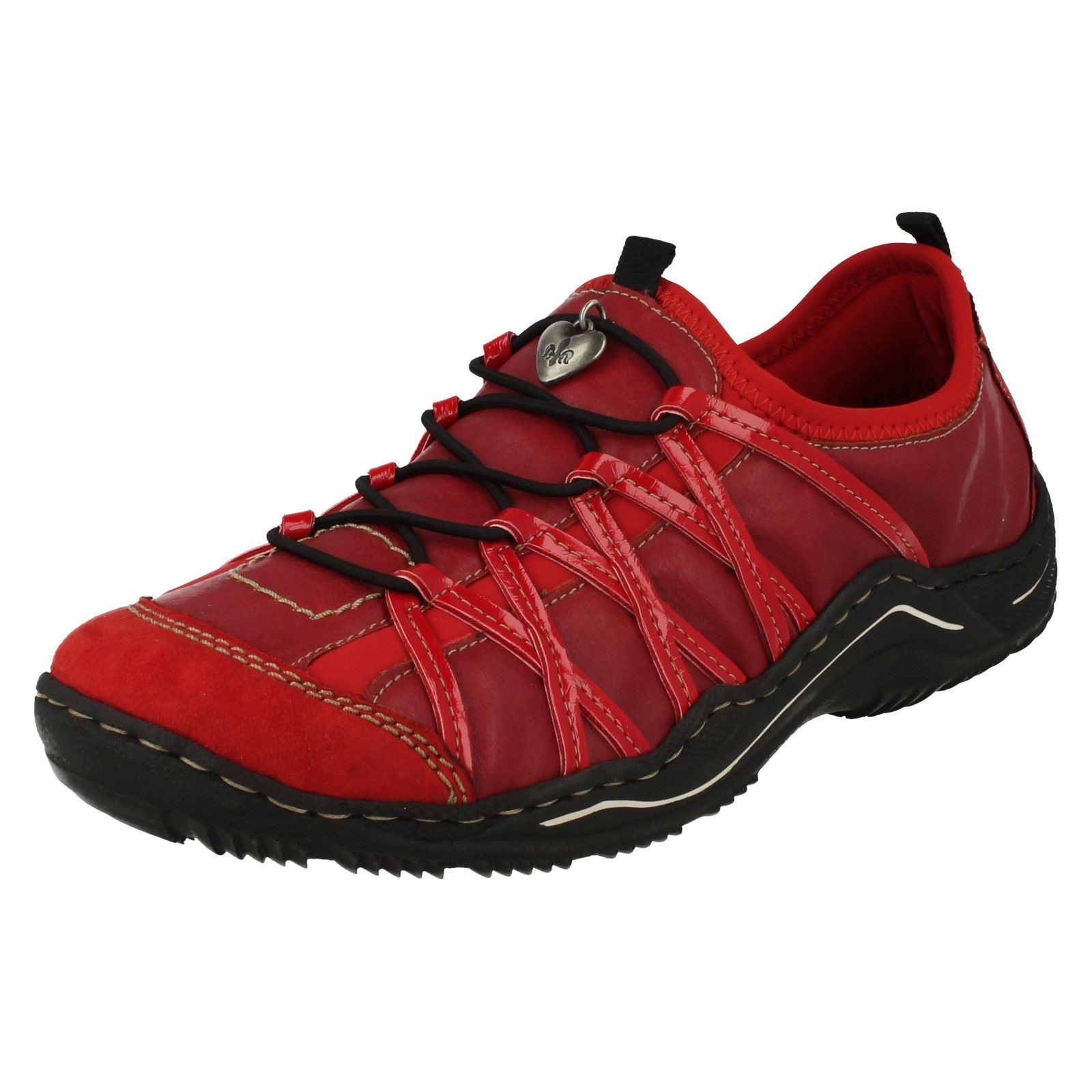 Lightweight Red Rieker l0559 Trainers Ladies xf4RwACq7