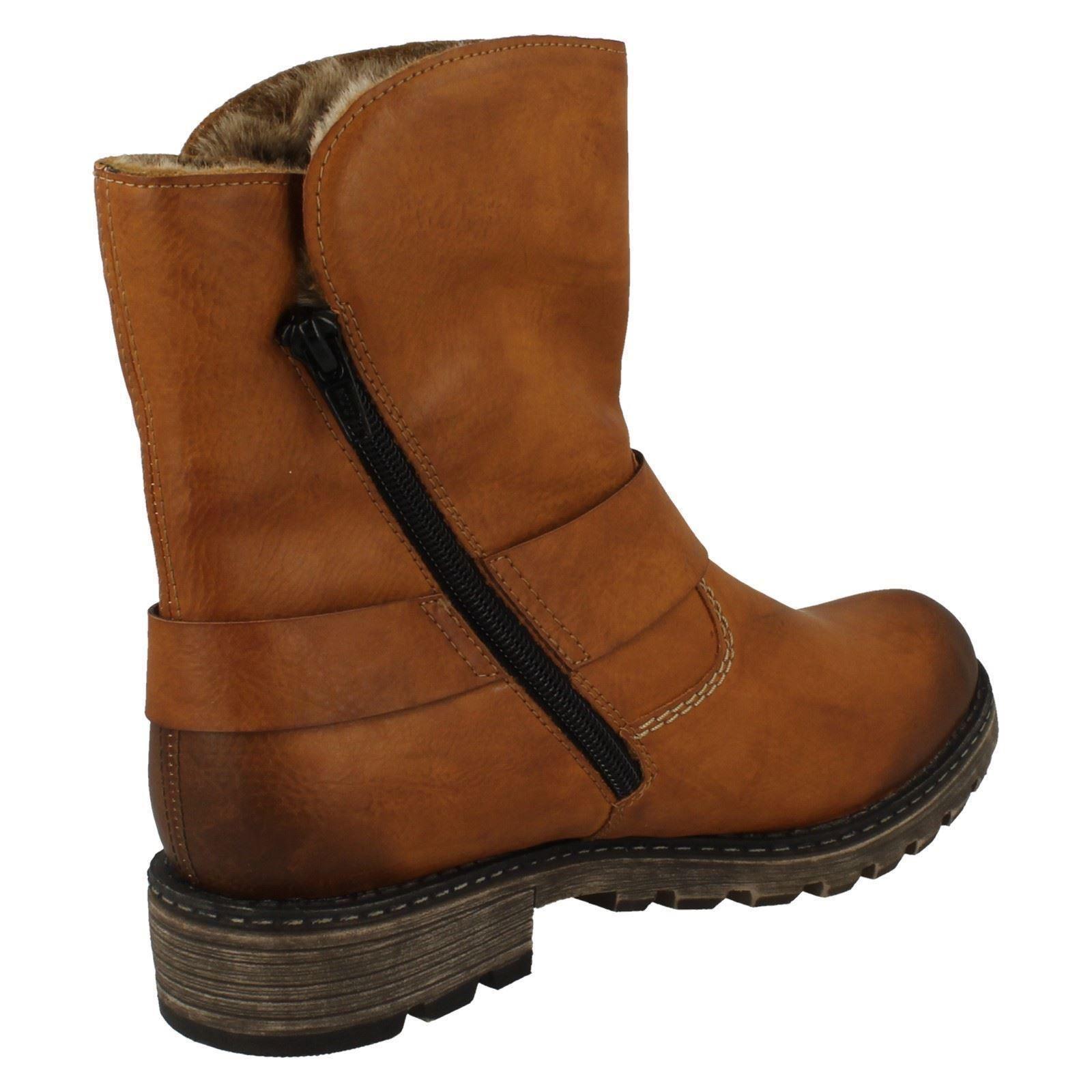 Zapatos especiales con descuento Ladies Rieker Warmlined Utility Boots Y6767