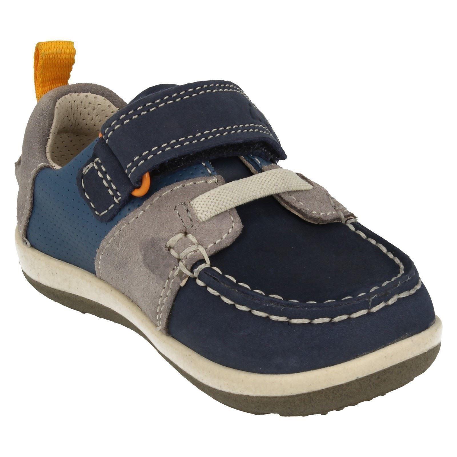 Clarks Softly Boat Fst Boys First Casual Boat Shoes 4 F Blue RuzWVCne