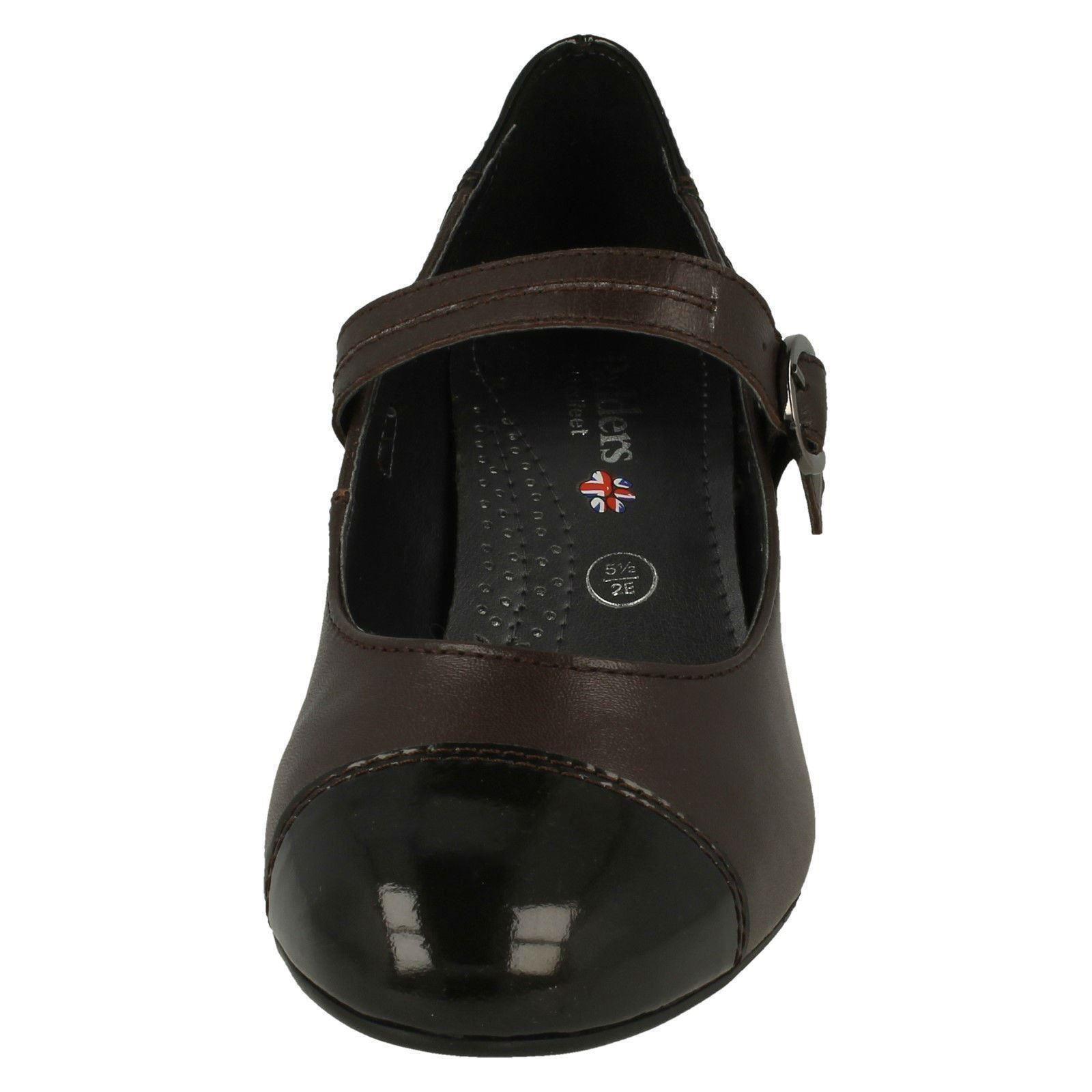 Padders Damas Damas Padders Tacón Alto Zapatos Estilo Mary Jane Jean 3ea7e1
