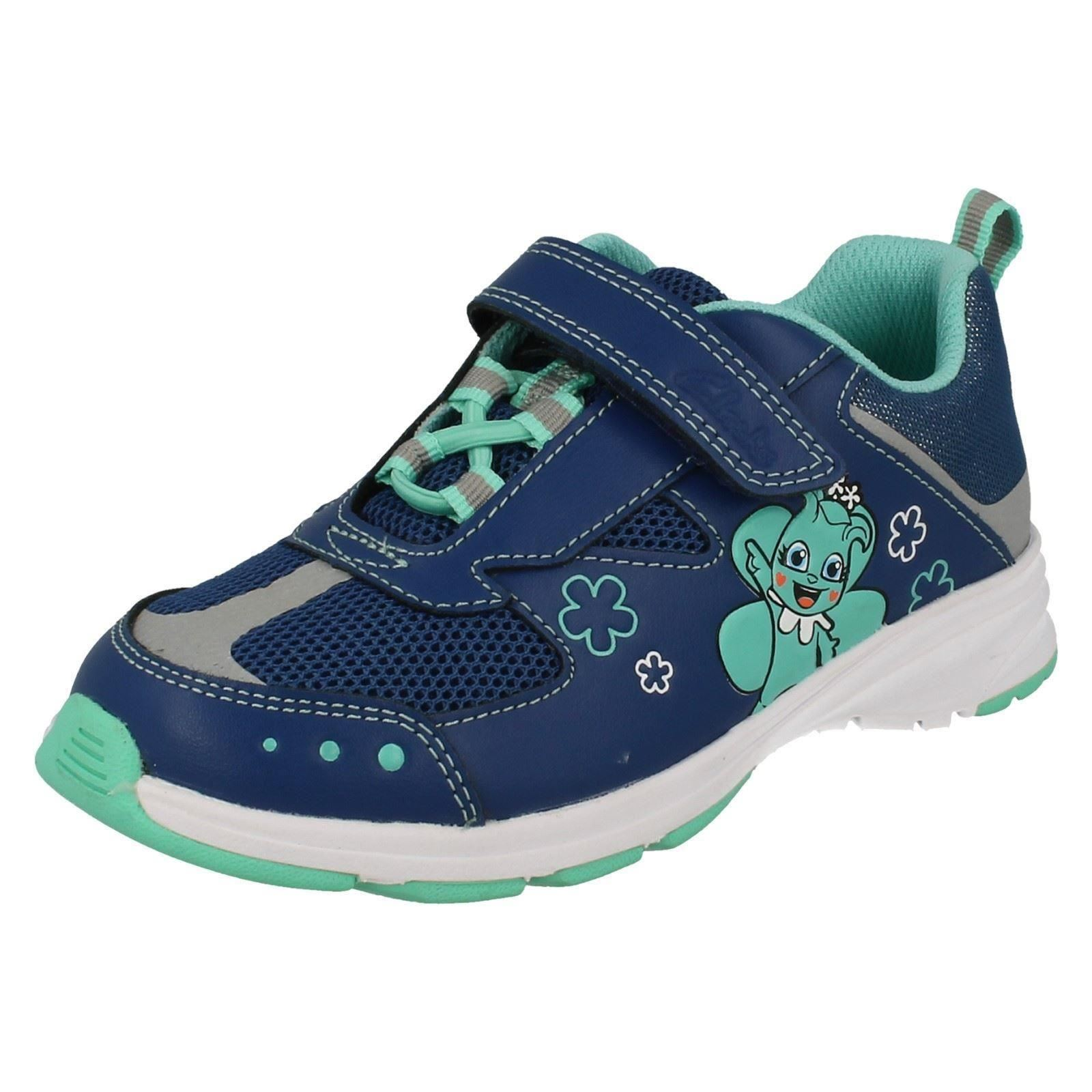 Infant and Junior Clarks Girls Trainers Reflectice UK 11 Kids Blue F ... 1e7dcfda9e2f