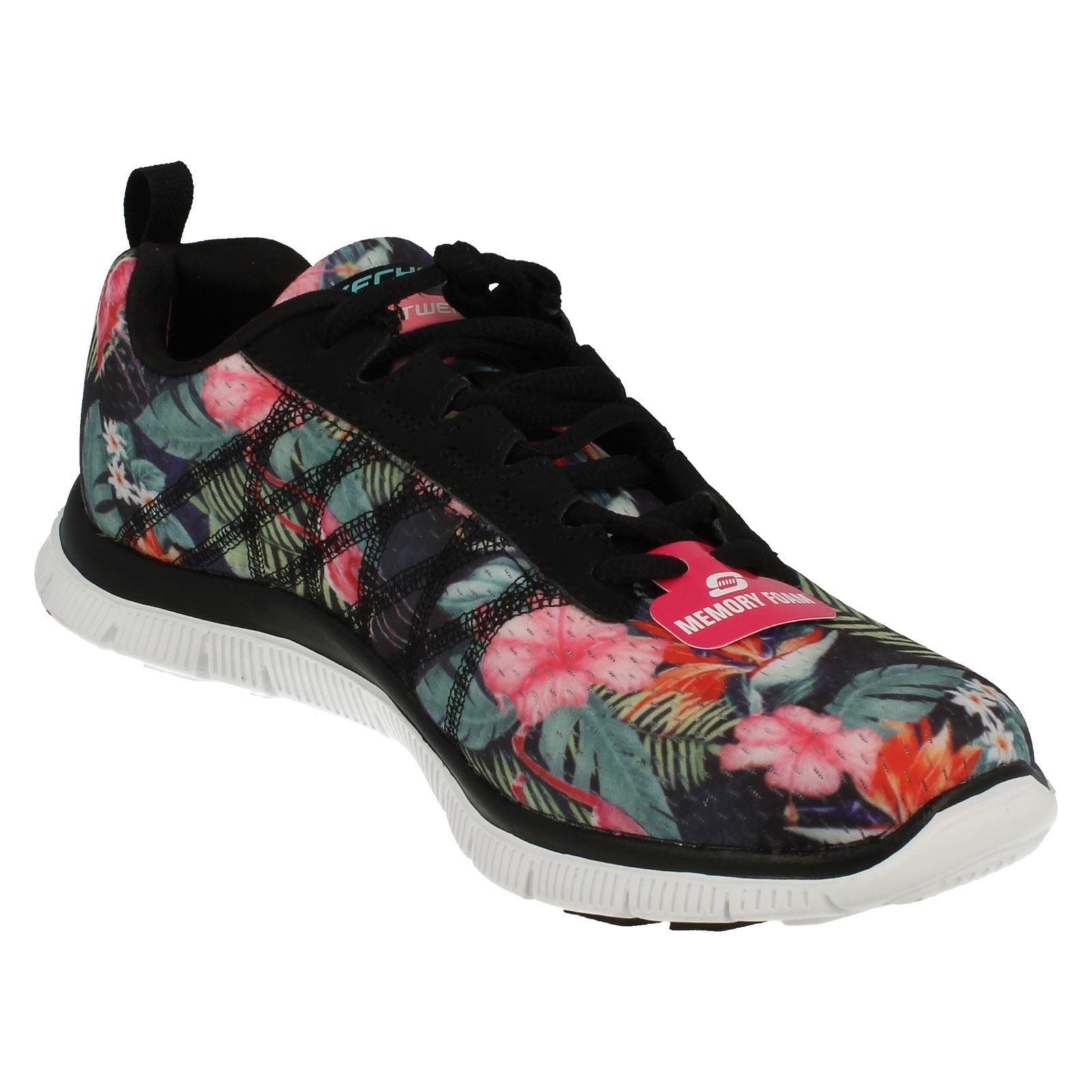 Skechers Femme Flex Appeal Appeal Flex Mousse à mémoire Baskets-Floral Bloom 12061 29d794