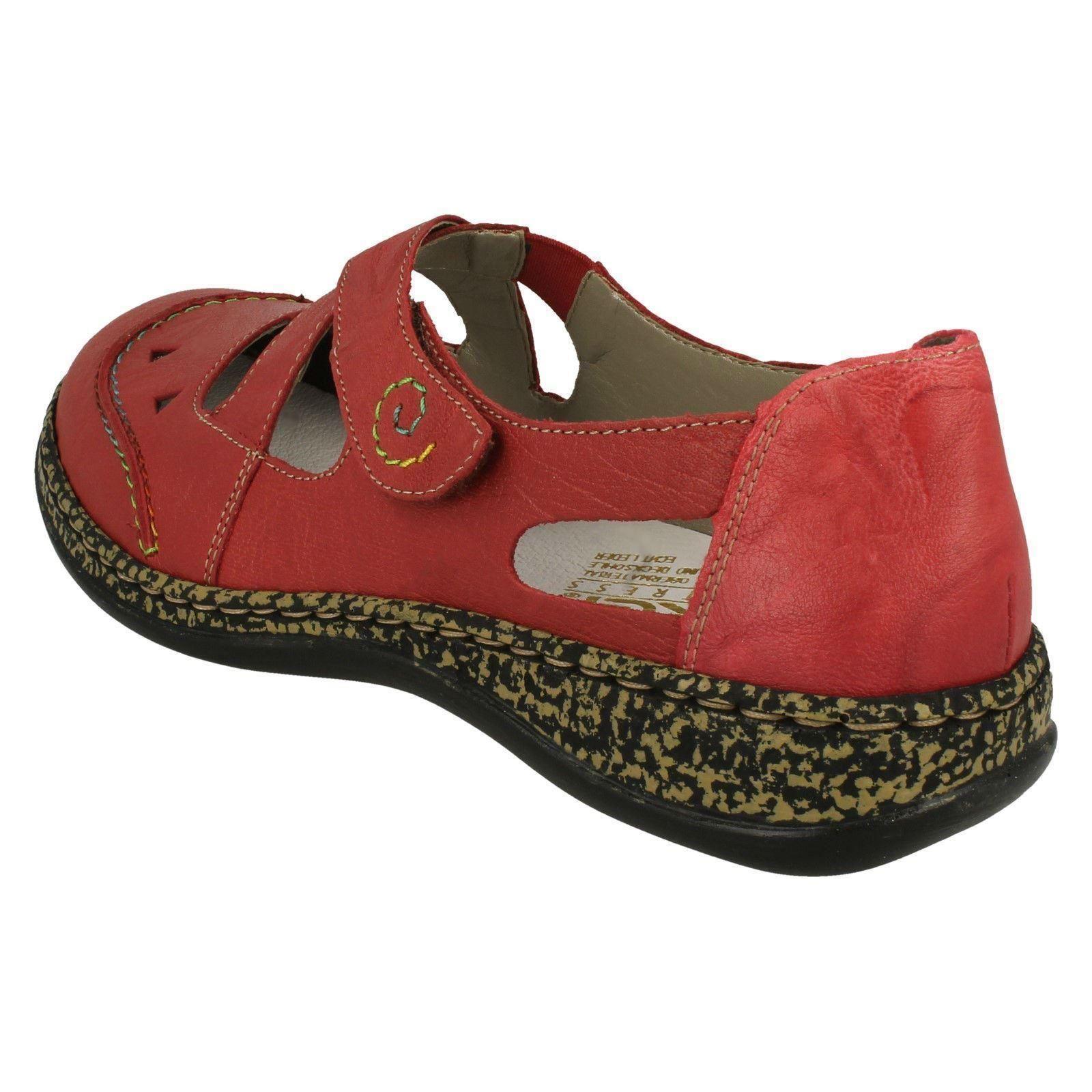 Casual Chaussures rouge dᄄᆭcoupes dᄄᆭtaillᄄᆭes pour avec dames Rieker 46335 wk8nOP0X