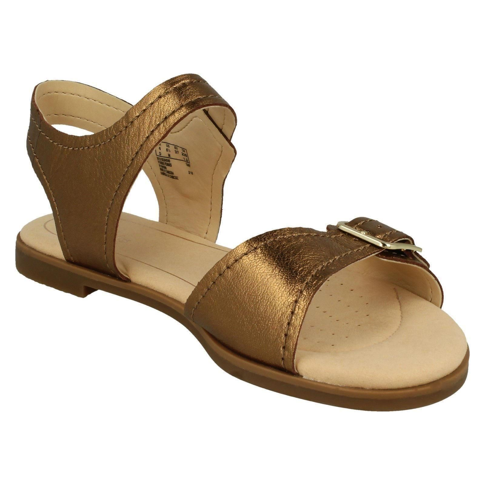 Signore Clarks punta aperta sandali sandali aperta casual Bay Primrose 165bd9
