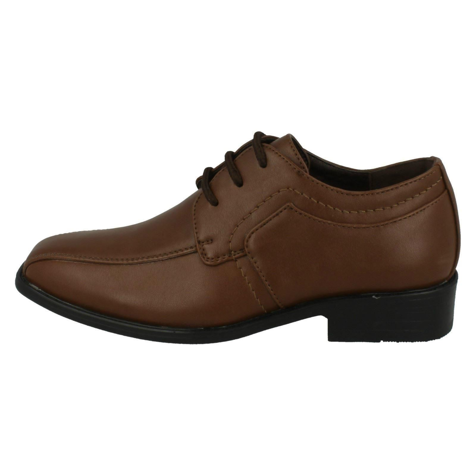 JCDees Childrens Boys Trendy Lace Up Formal Shoes