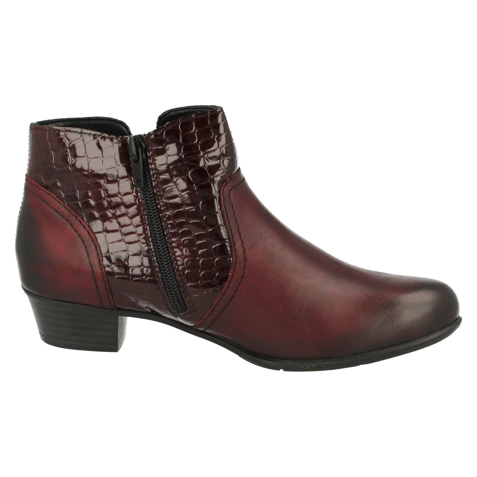 Ladies Remonte Heeled Bnkle Boots D3574