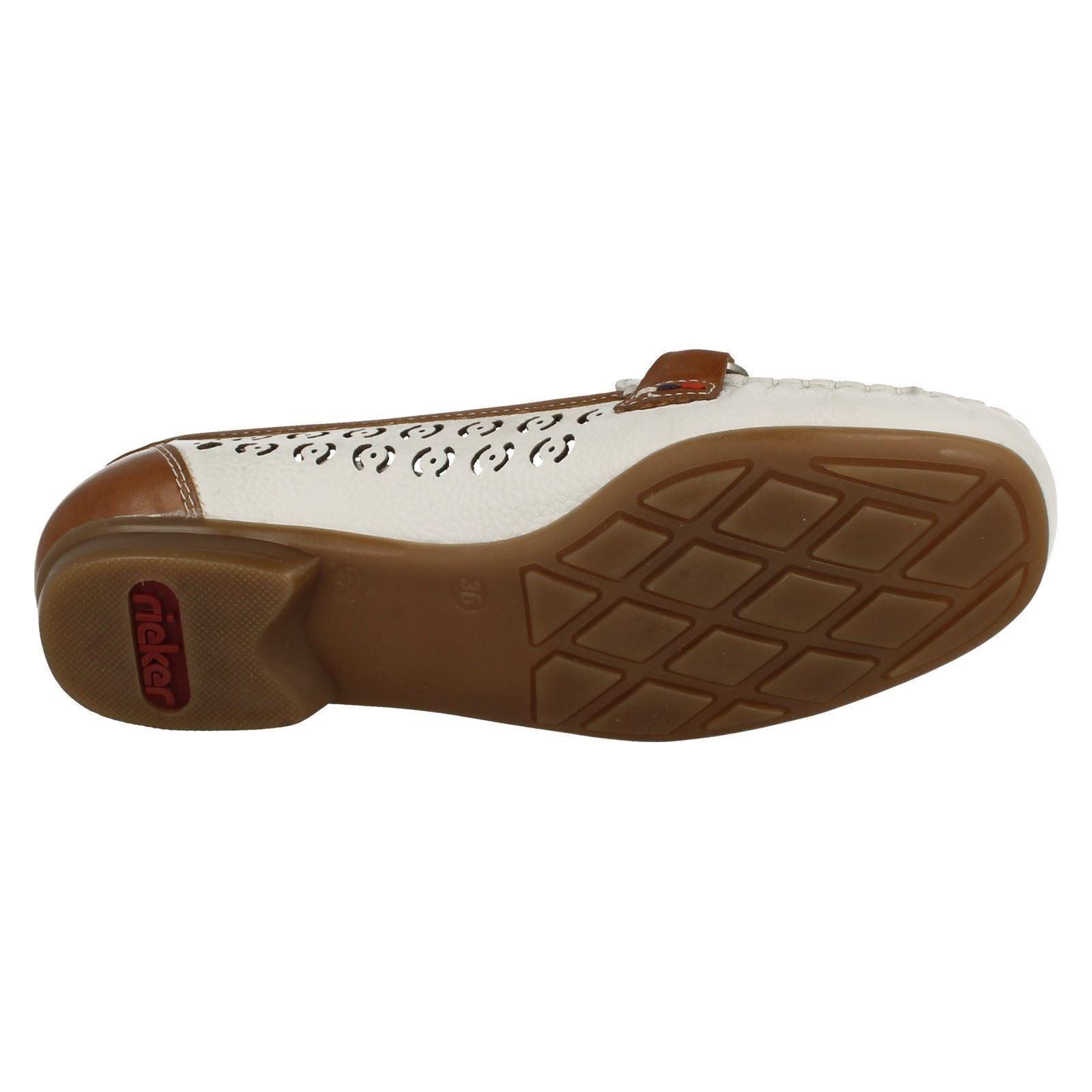 Ladies 40085 Shoe Rieker Loafer White Flat nqWU7ARnrv