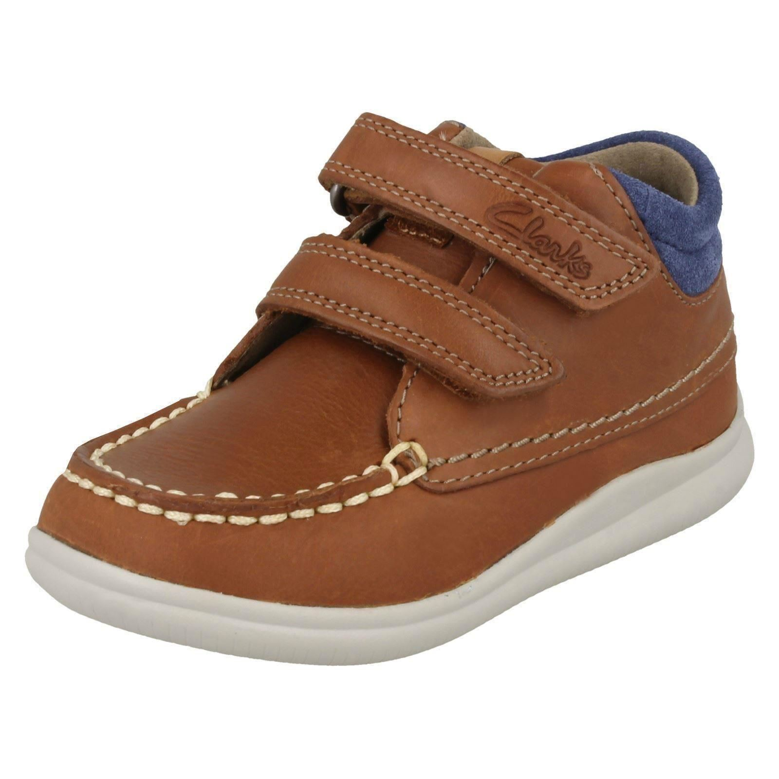 cc954d45c5deb0 Boys First Shoes by Clarks Ankle BOOTS  cloud Tuktu  Tan (brown) UK 4  Infant H. About this product. Picture 1 of 10  Picture 2 of 10 ...