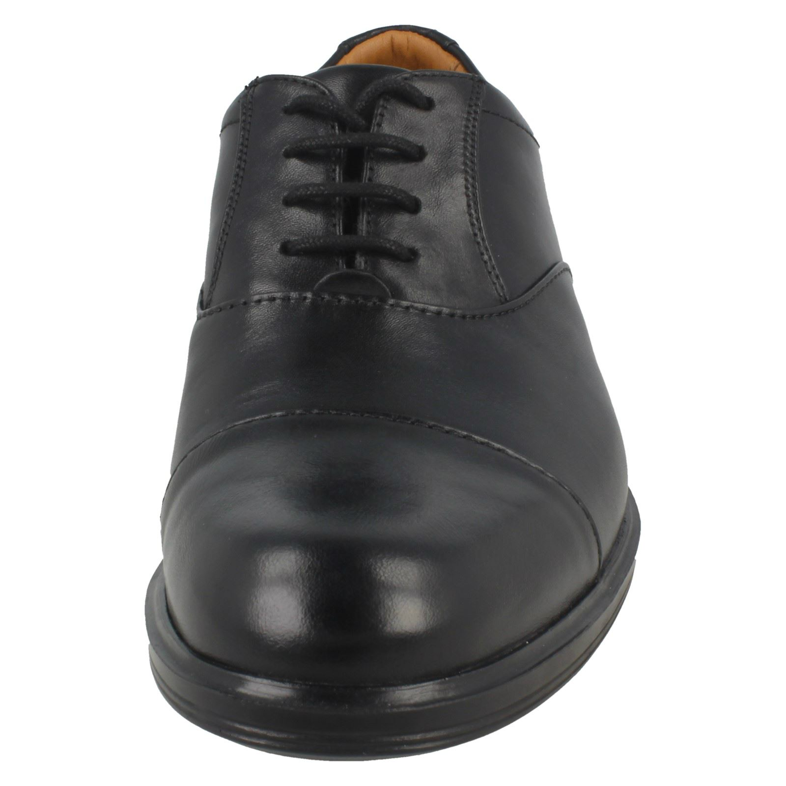 hombre Oxford cordones para de Clarks negro gorra con gabson formales RAwXgq7