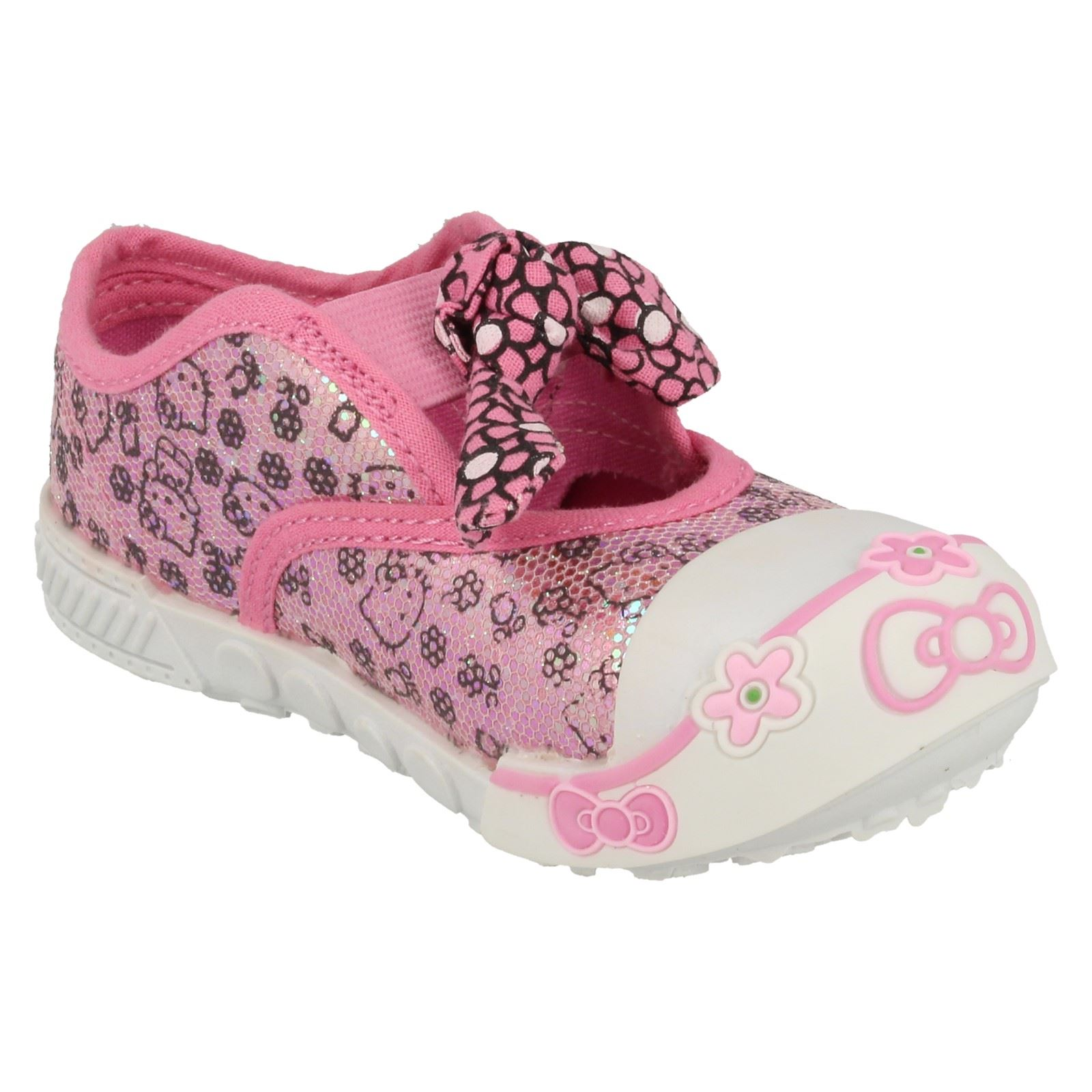 Girls Hello Kitty Oppland Canvas Shoes