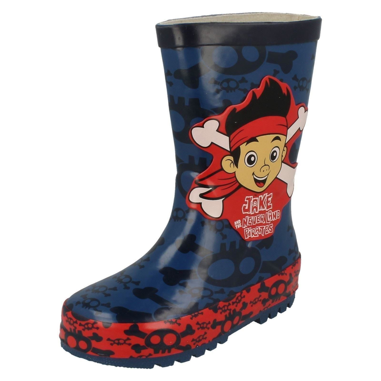 Chicos Disney Crossbone Wellingtons * Jake Y Los Piratas Del Neverland *