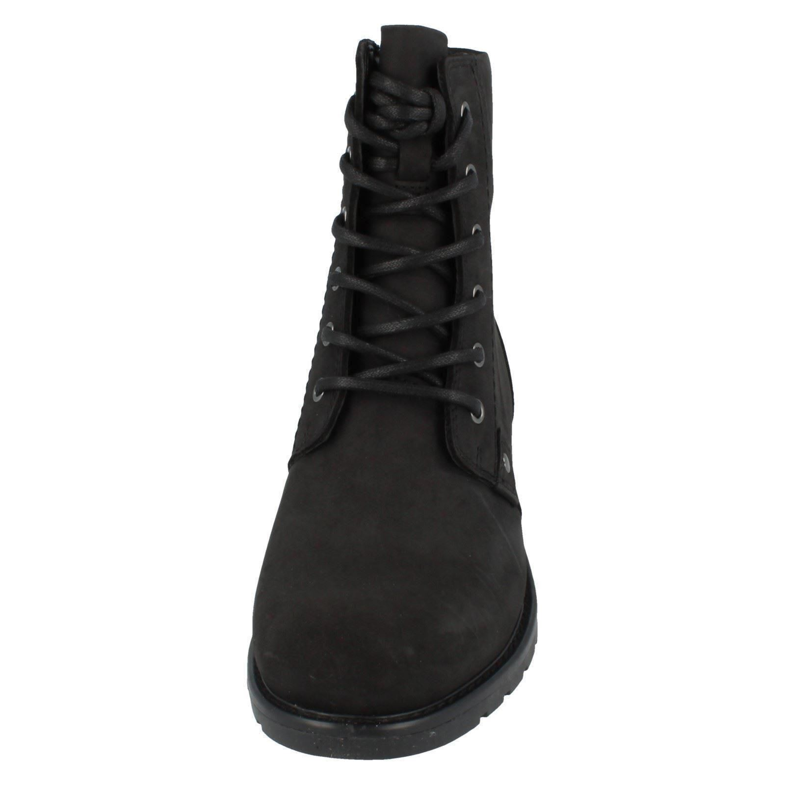 Ladies-Clarks-Casual-Lace-Up-Inside-Zip-Nubuck-Leather-Ankle-Boots-Orinoco-Spice thumbnail 9